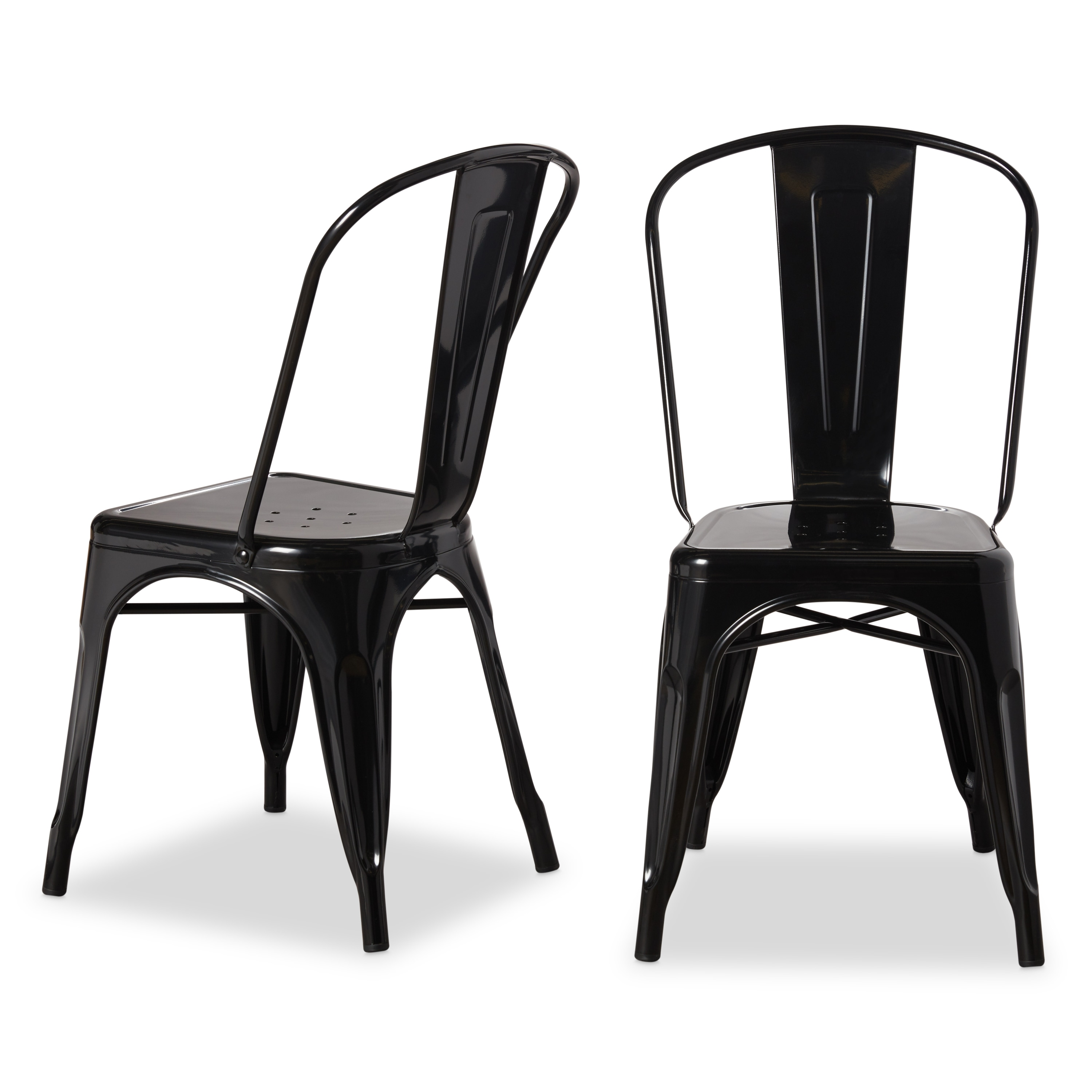 shop tabouret bistro steel dining chairs set of 2 free shipping