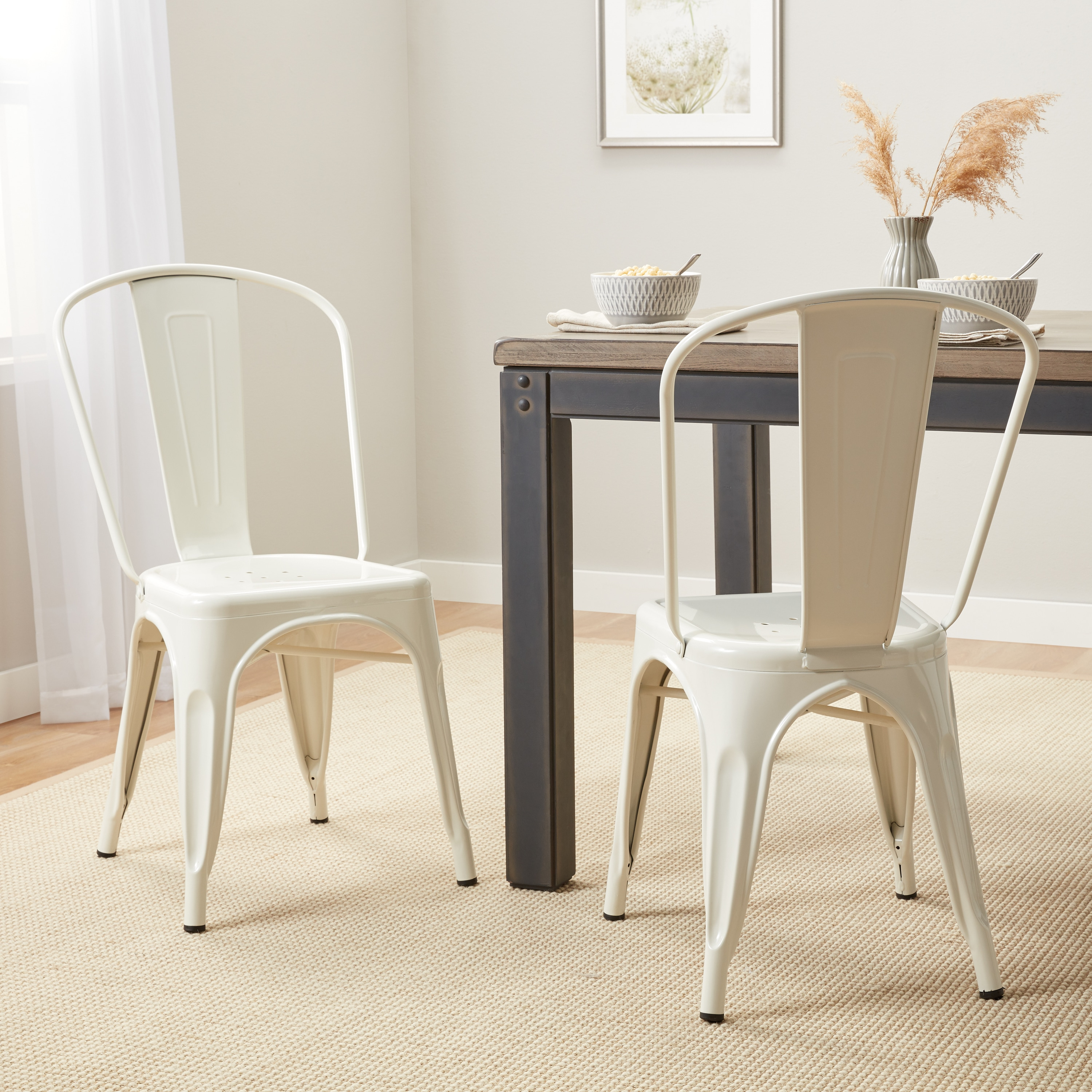 Exceptionnel Tabouret Bistro Steel Dining Chairs (Set Of 2)