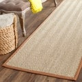 Safavieh Casual Natural Fiber Hand-Woven Sisal Natural / Medium Brown Seagrass Rug (2' 6 x 20')