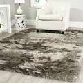 Safavieh Handmade Silken Glam Paris Shag Sable Brown Rug (10' x 14')