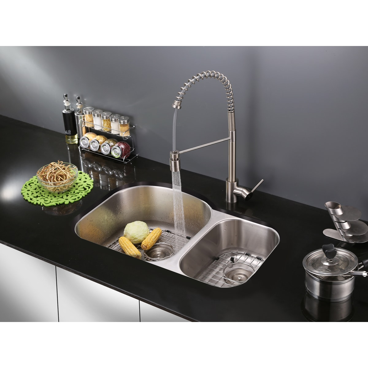 Shop Ruvati RVF1210ST Commercial Style Pullout Spray Stainless Steel ...