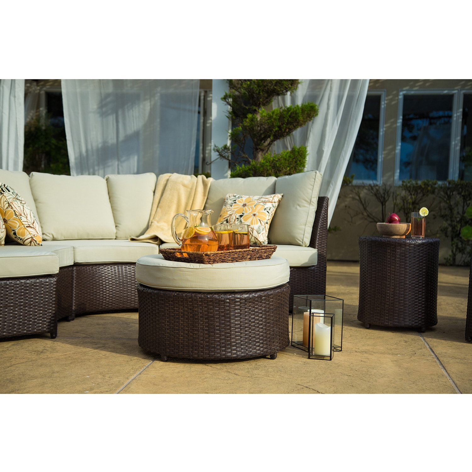 Corvus Melrose 8 Piece Brown Wicker Patio Furniture Set Free Shipping Today 15130522