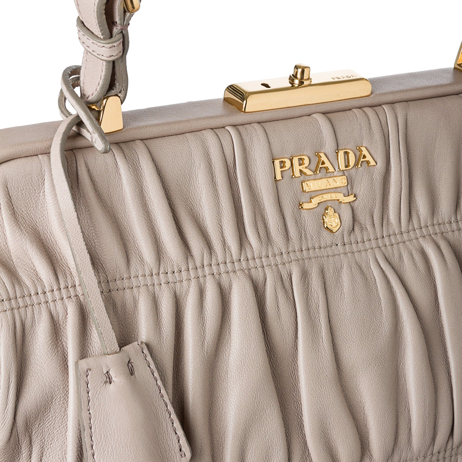 361e0d61444f ... reduced prada light grey ruched leather tote bag free shipping today  overstock 15132177 9bc73 4f894 ...