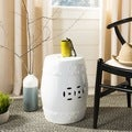 Safavieh Paradise Treasures White Ceramic Garden Stool