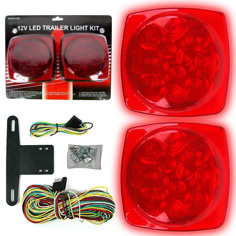 Shop 12 Volt Led Trailer Tail Light Kit Free Shipping On Orders Harness Over 45 7731414