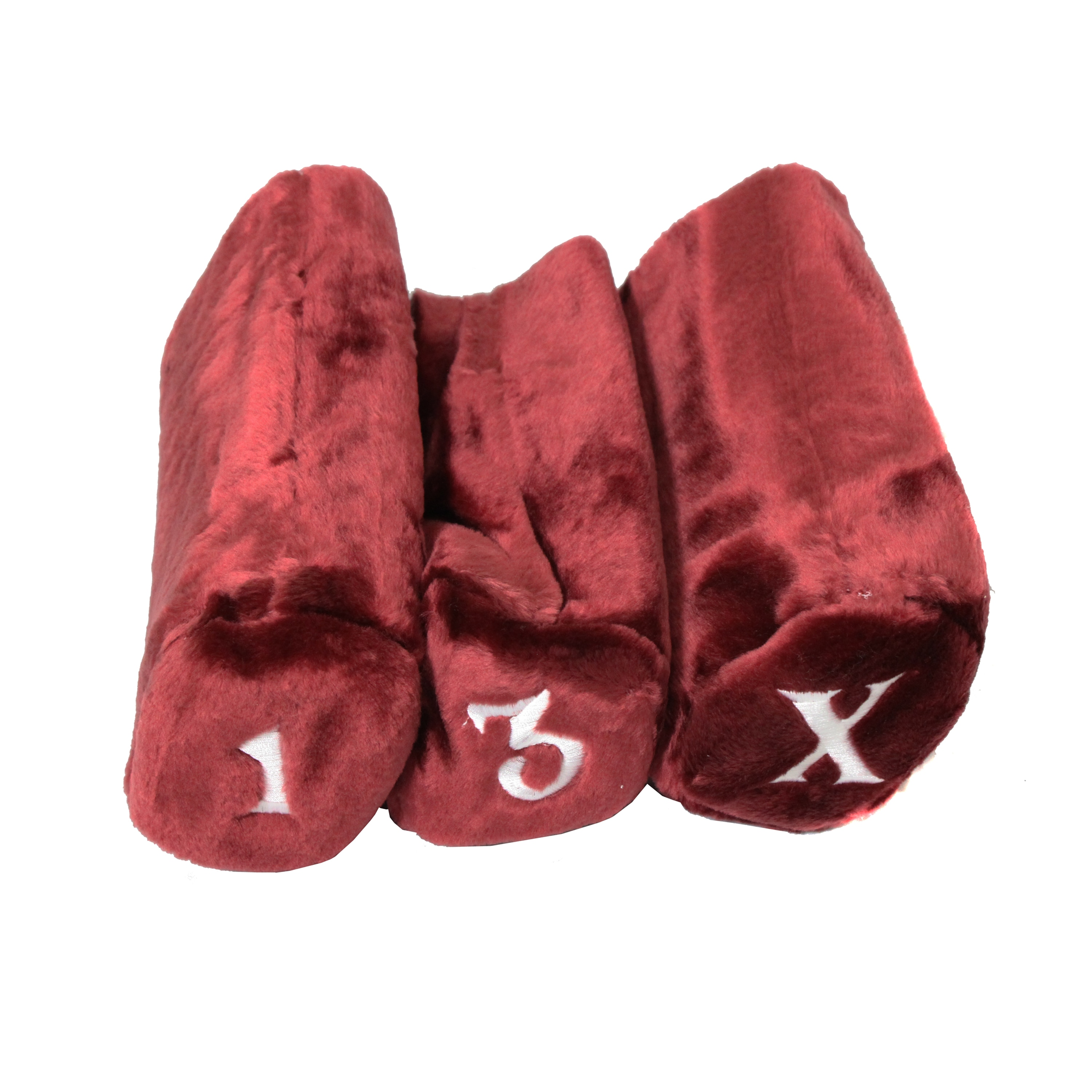 Pro Source Embroidered Golf Club Cylinder Fur Headcovers (Set of 3) - Free  Shipping On Orders Over $45 - Overstock.com - 15135342