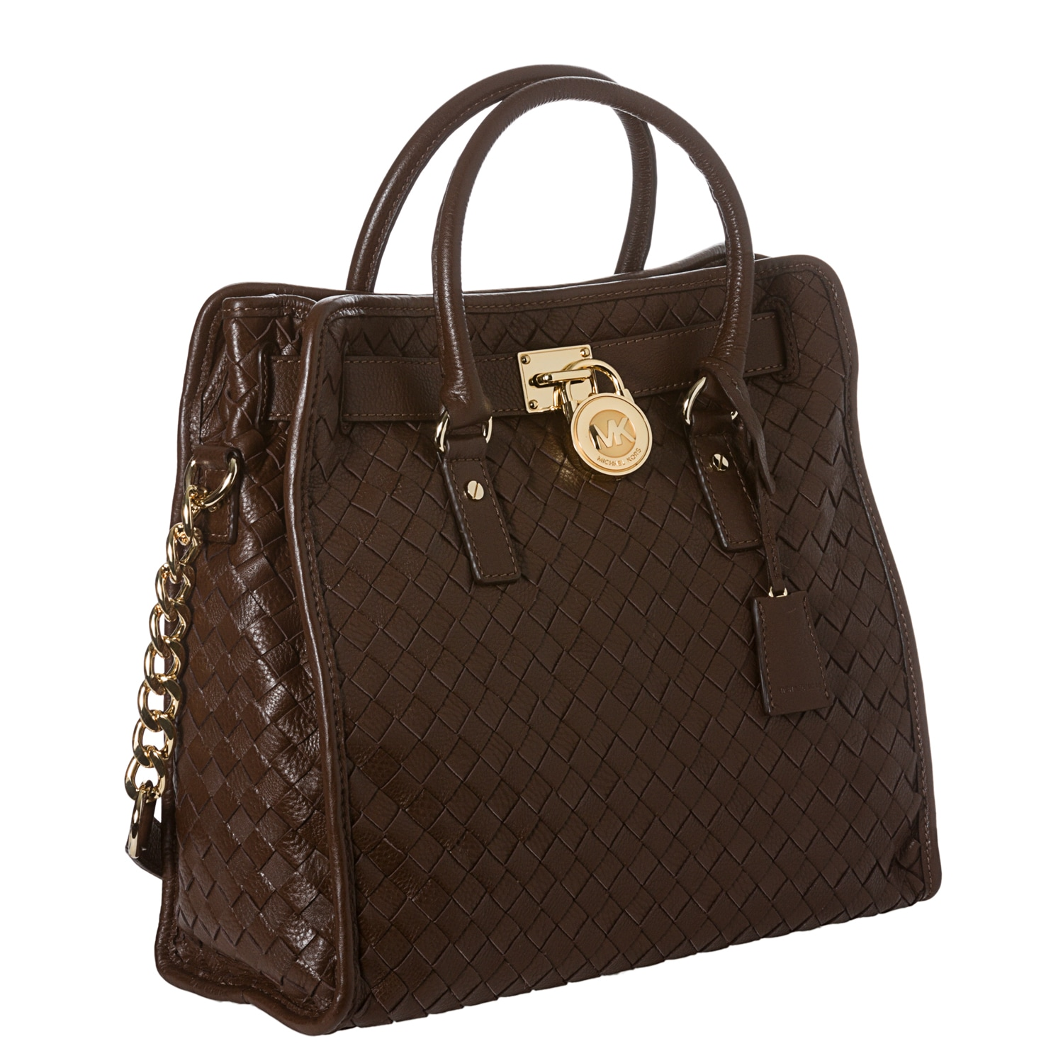 Michael Kors Hamilton Woven Leather Tote Bag Free Shipping Today 7739850
