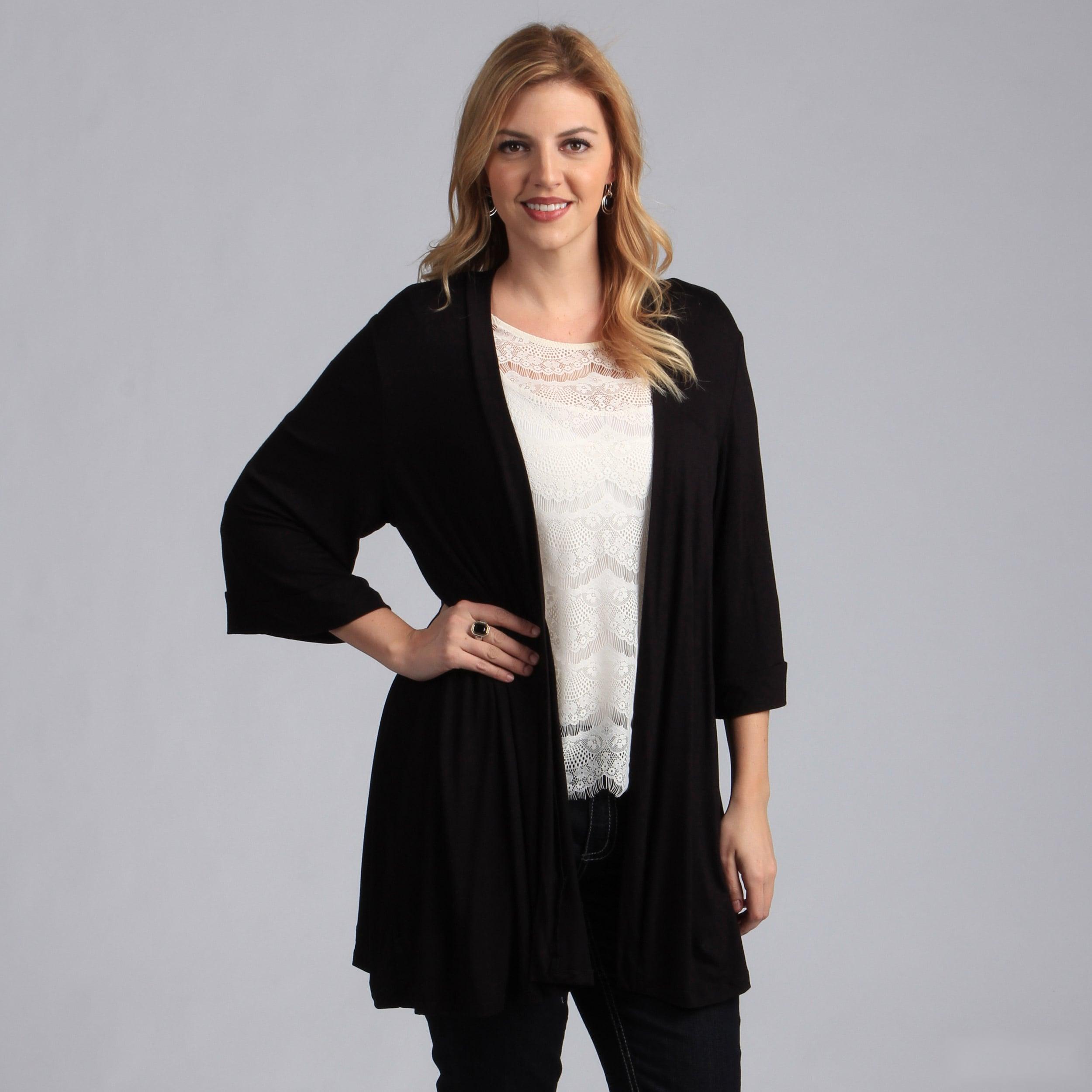 acc4e871b41 Shop 24 7 Comfort Apparel Women s Plus Size Long Shrug - Free ...