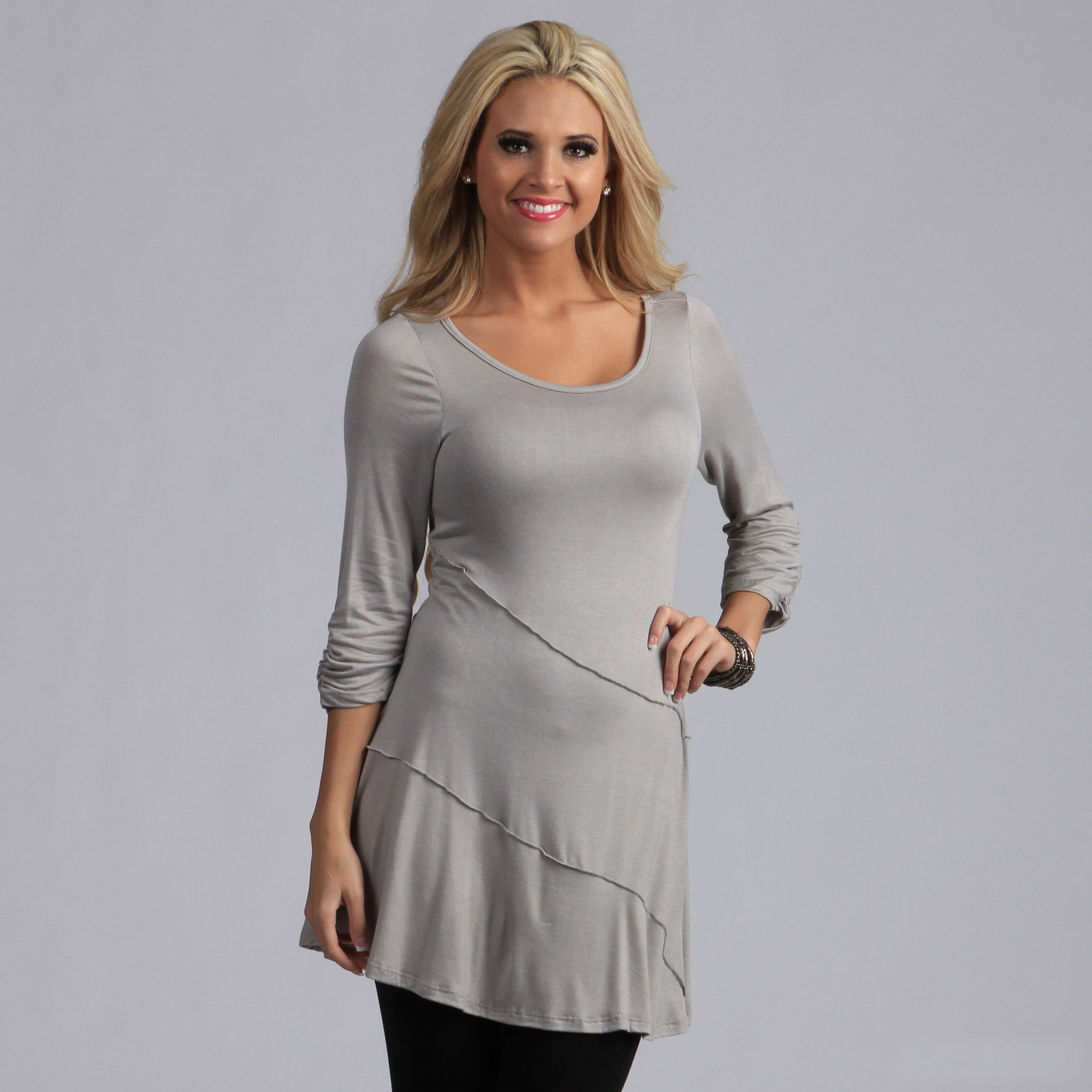 ad875970eea Shop 24/7 Comfort Apparel Women's Elbow Sleeve Tunic Top - On Sale - Free  Shipping On Orders Over $45 - Overstock - 7753190