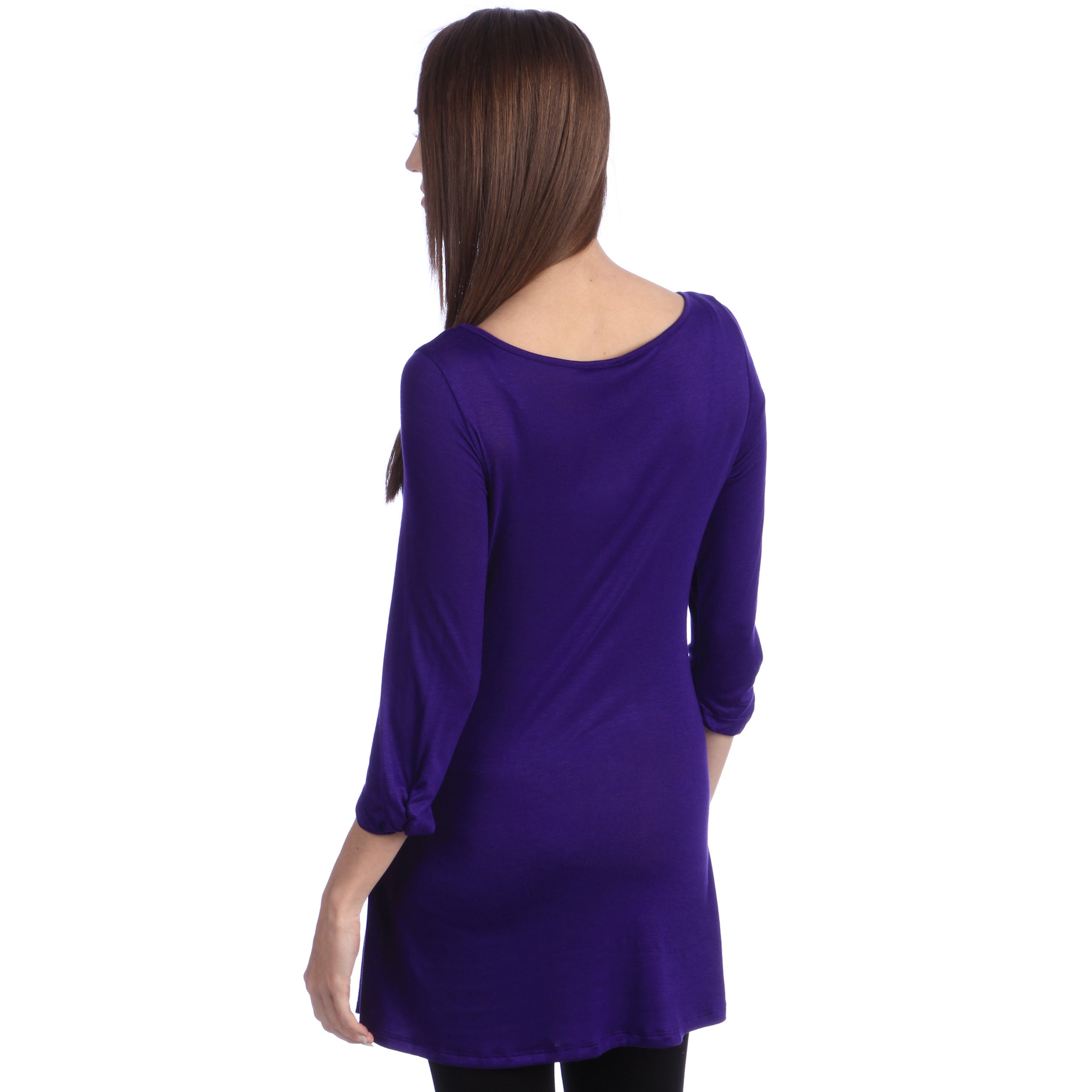 20a59b94343 Shop 24/7 Comfort Apparel Women's Elbow Sleeve Tunic Top - On Sale - Free  Shipping On Orders Over $45 - Overstock - 7753190