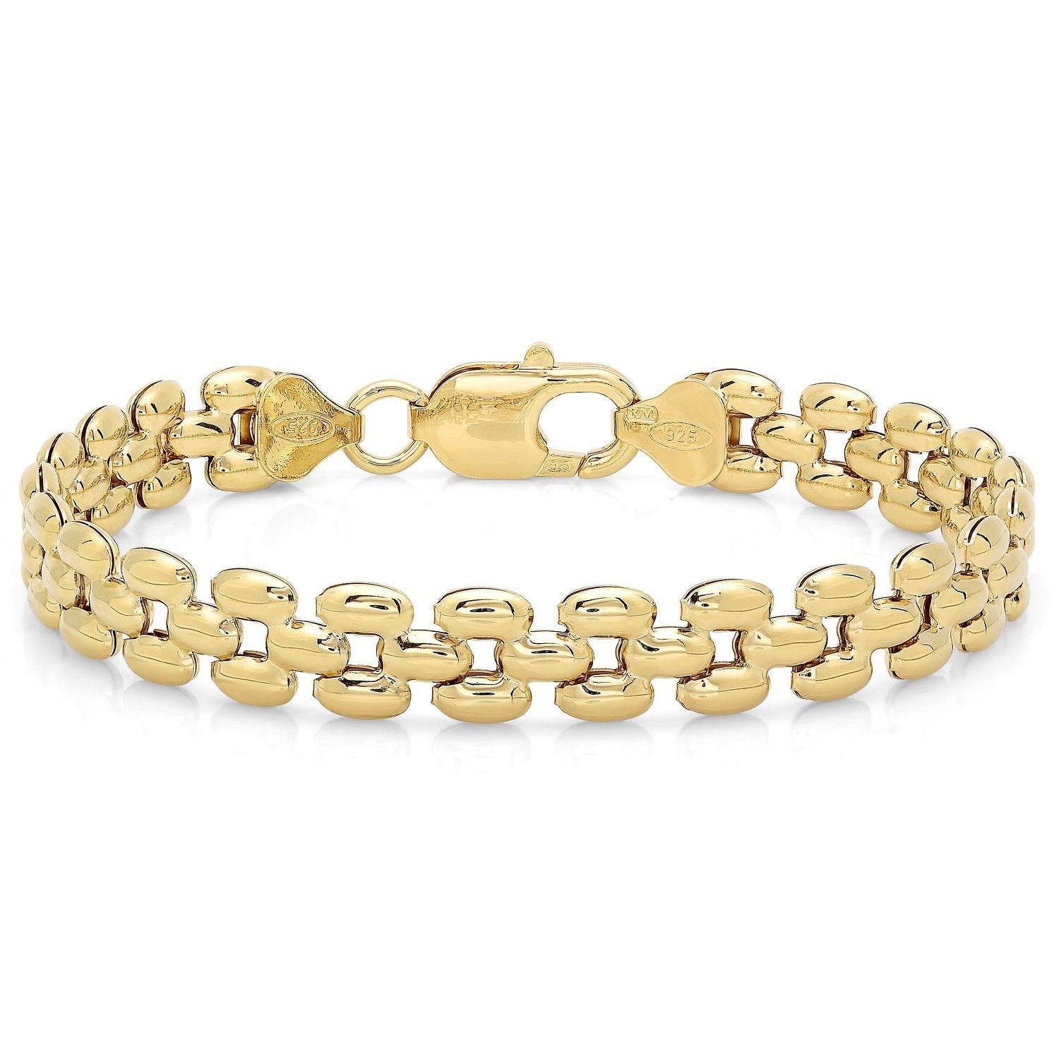 panther bracelet product tone band two rubber gold