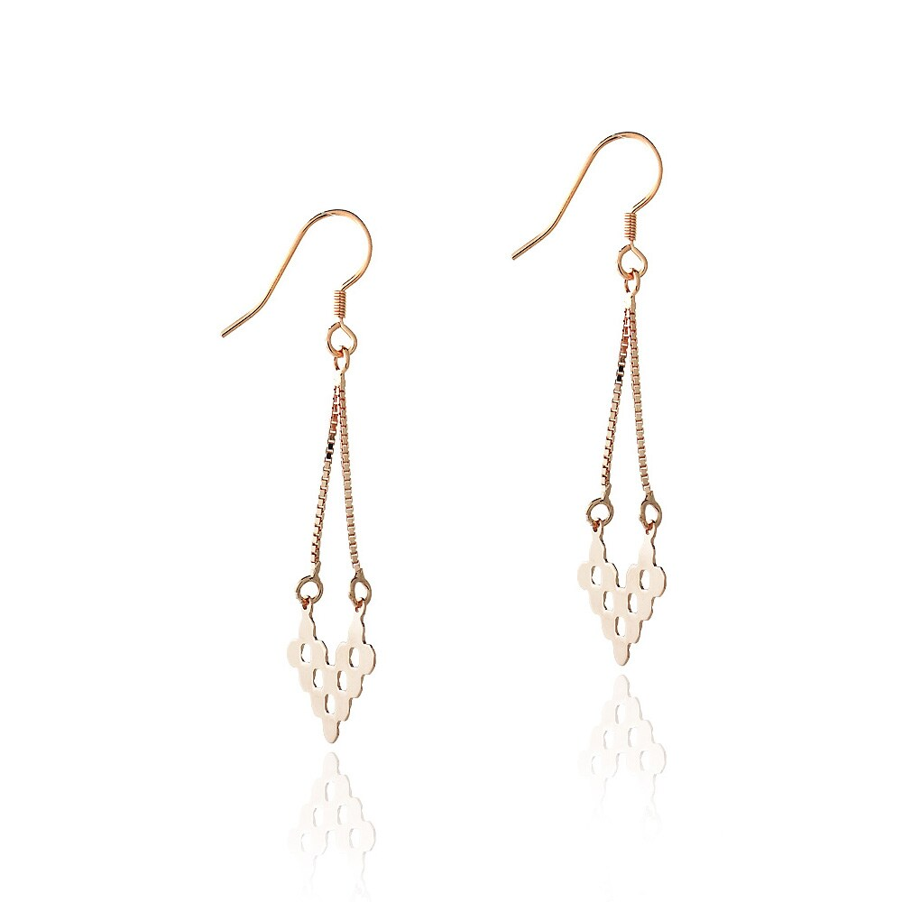 Mondevio sterling silver v shape cut out chandelier dangle mondevio sterling silver v shape cut out chandelier dangle earrings free shipping on orders over 45 overstock 15151322 arubaitofo Choice Image