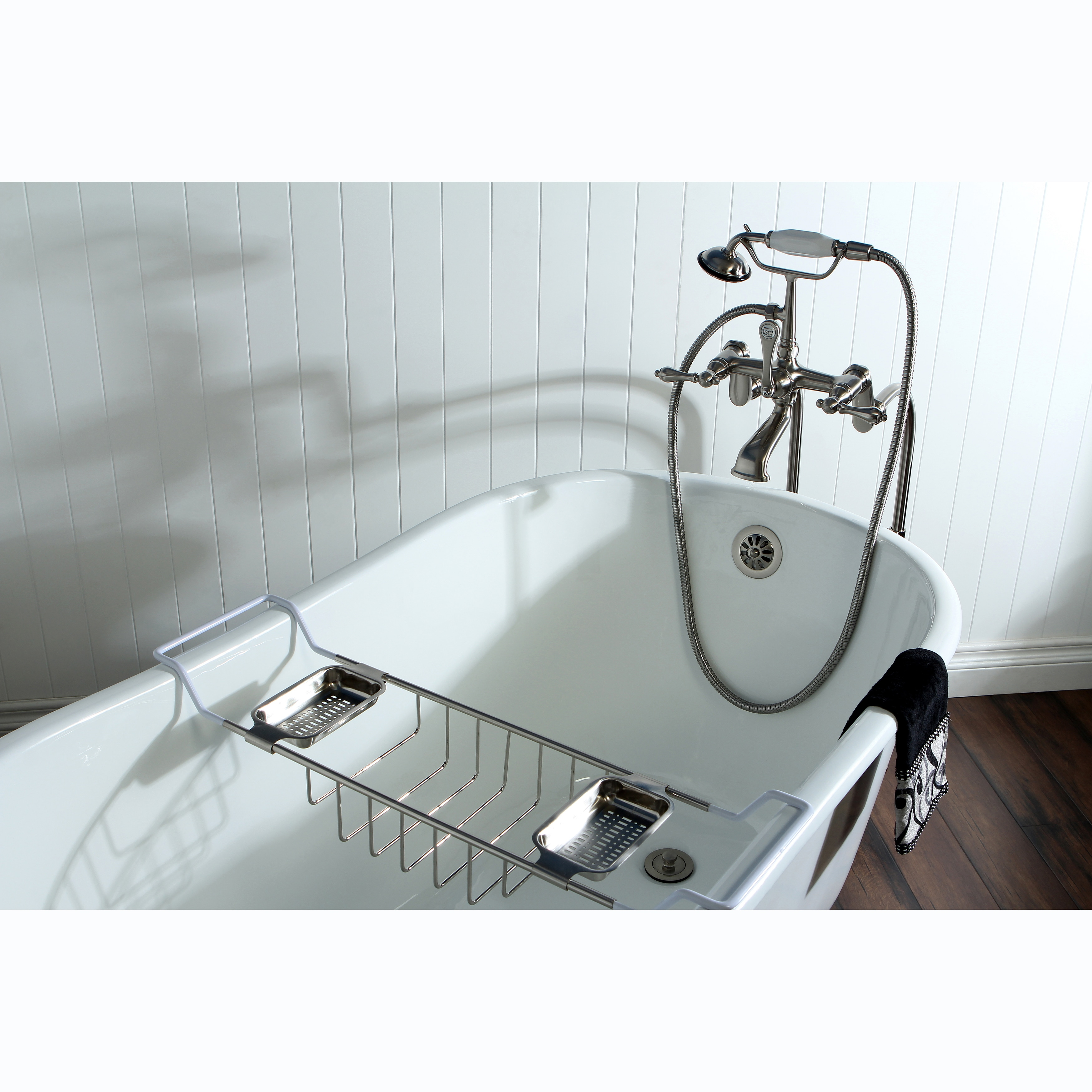 Slipper Cast Iron 53 Inch Clawfoot Bathtub   Free Shipping Today    Overstock.com   15178973