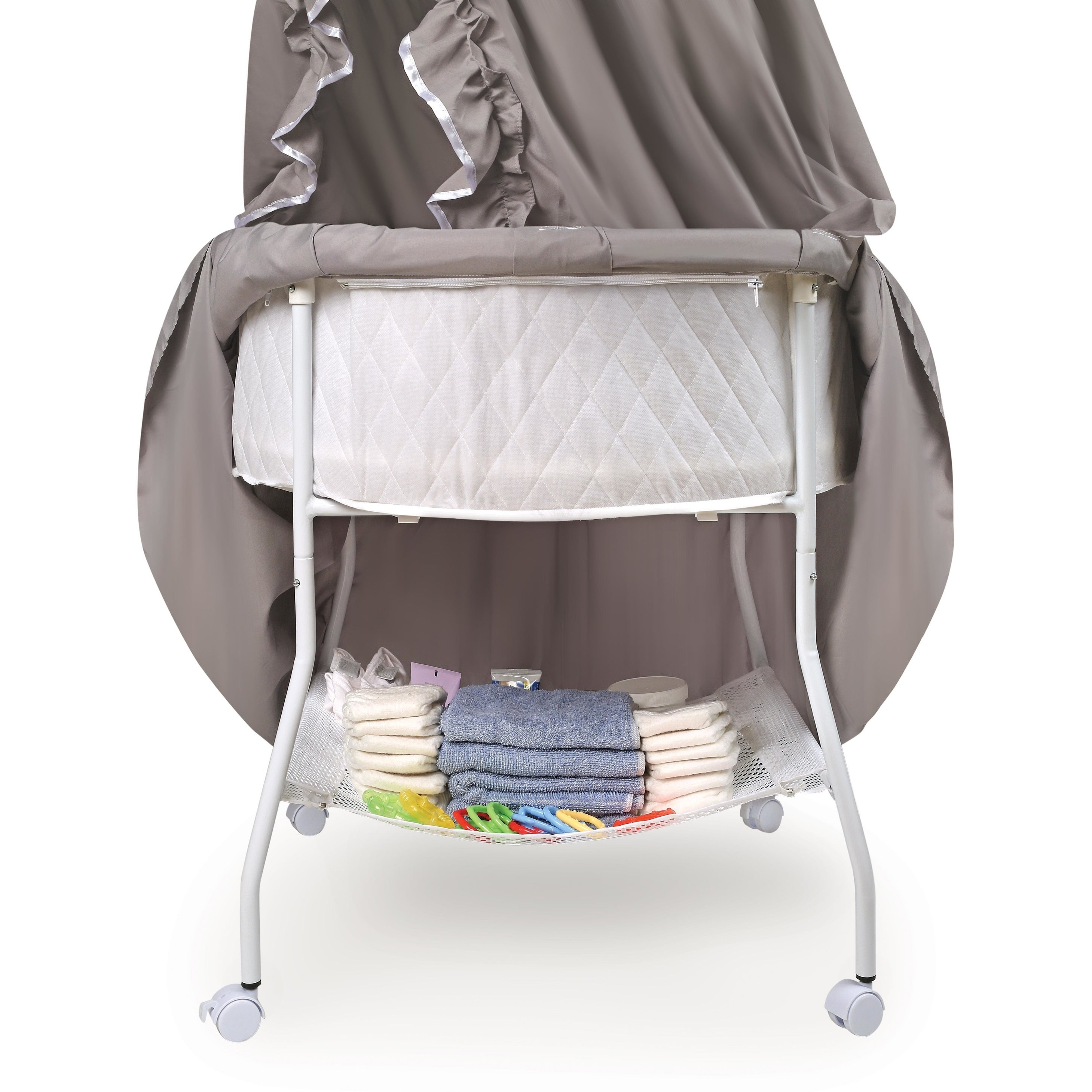Shop Empress Round Baby Bassinet - Free Shipping Today - Overstock ...