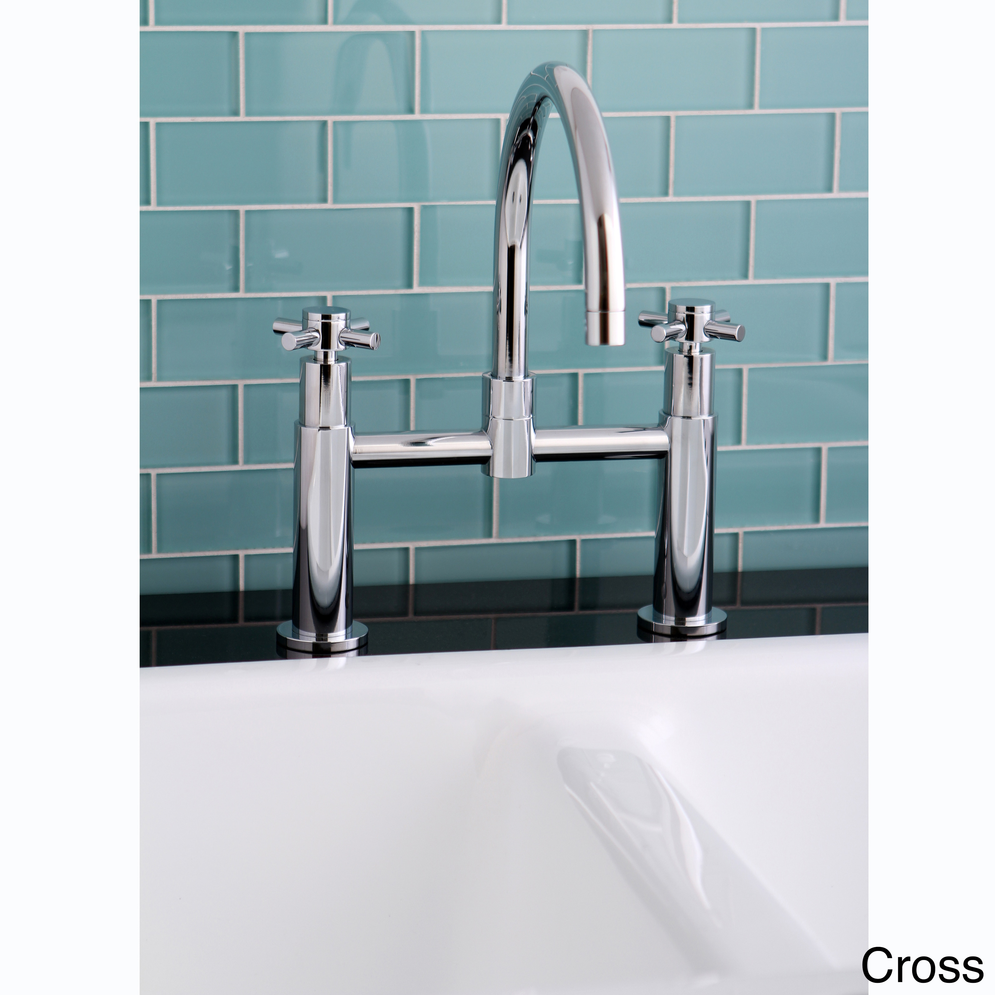 Shop Modern Chrome Bridge Kitchen Faucet - Free Shipping Today ...