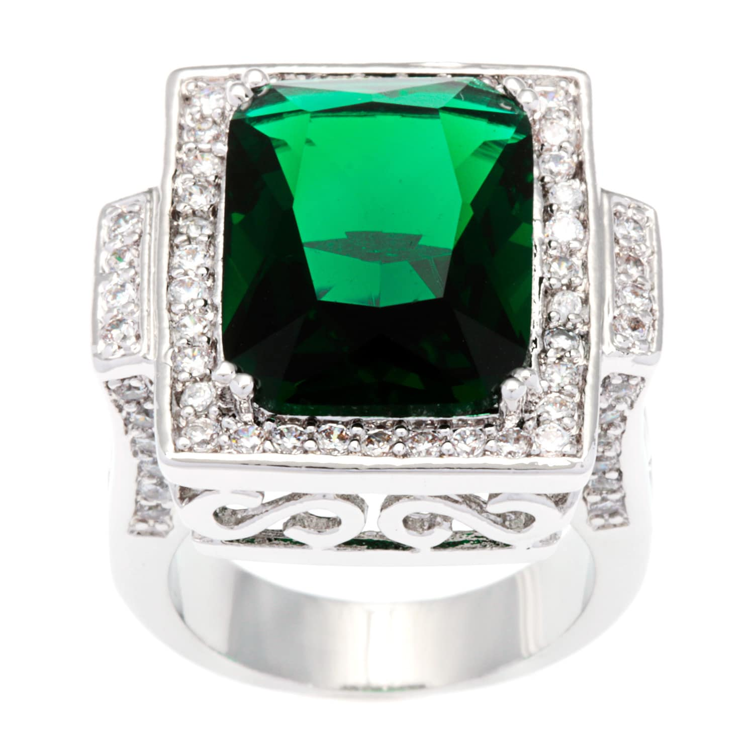 gemstone diamond i emerald cut h shipping cushion jewelry free product gold today overstock tdw white watches earrings