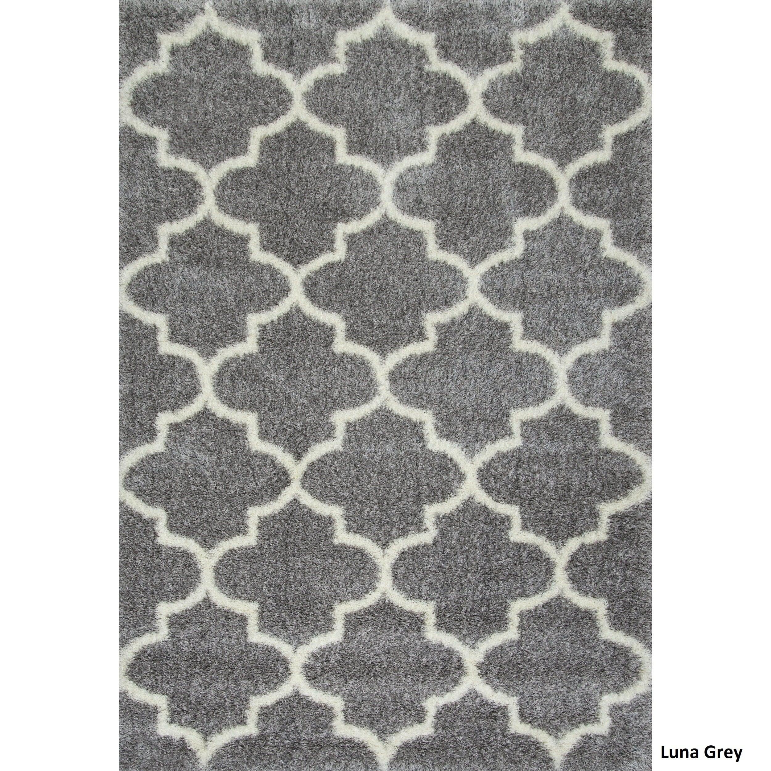 nuloom moroccan style berber trellis shag rug 53 x 76 free