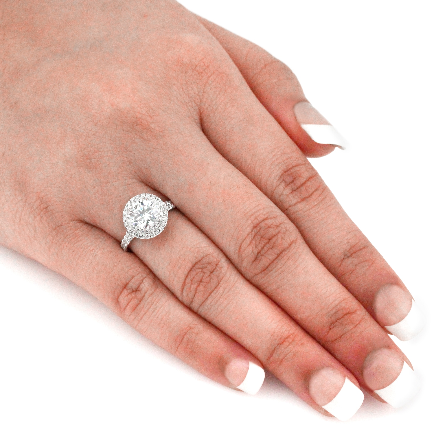 ring jewellery engagement round a diamond graff collections rings white high ct