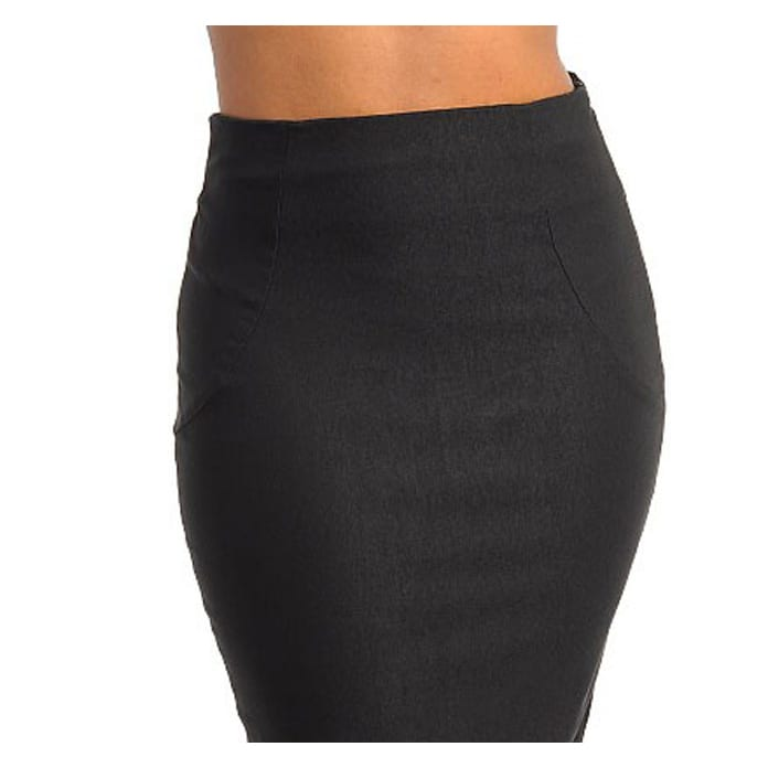 8ee6f4267 Shop Stanzino Women's Black Mid-length Pencil Skirt - Free Shipping On  Orders Over $45 - Overstock - 7818664