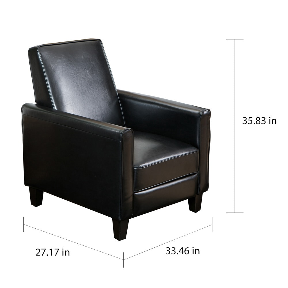 Darvis Black Bonded Leather Recliner Club Chair By Christopher Knight Home    Free Shipping Today   Overstock   15209712