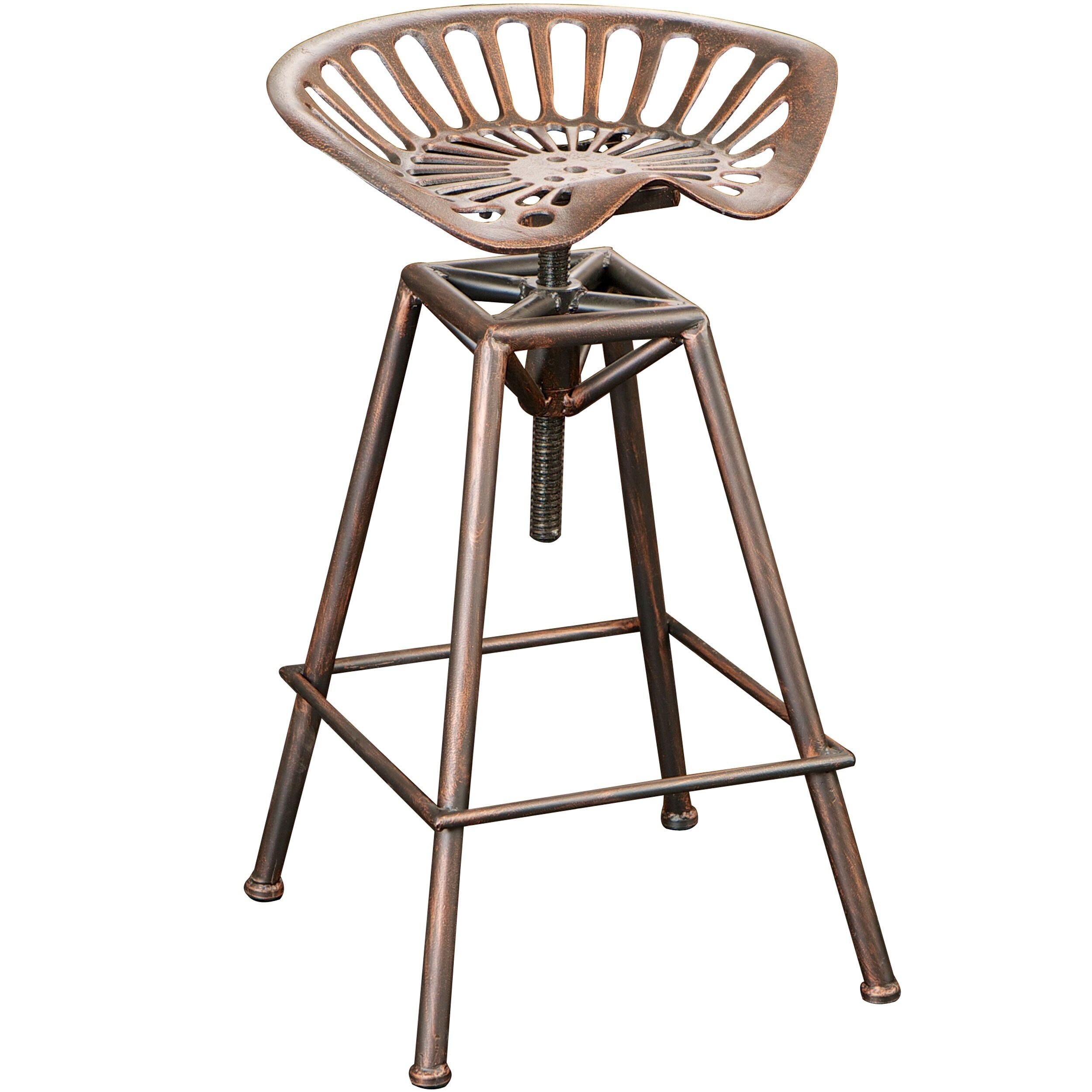 Chapman 28 Inch Iron Saddle Copper Barstool By Christopher Knight Home Free Shipping Today 15209720