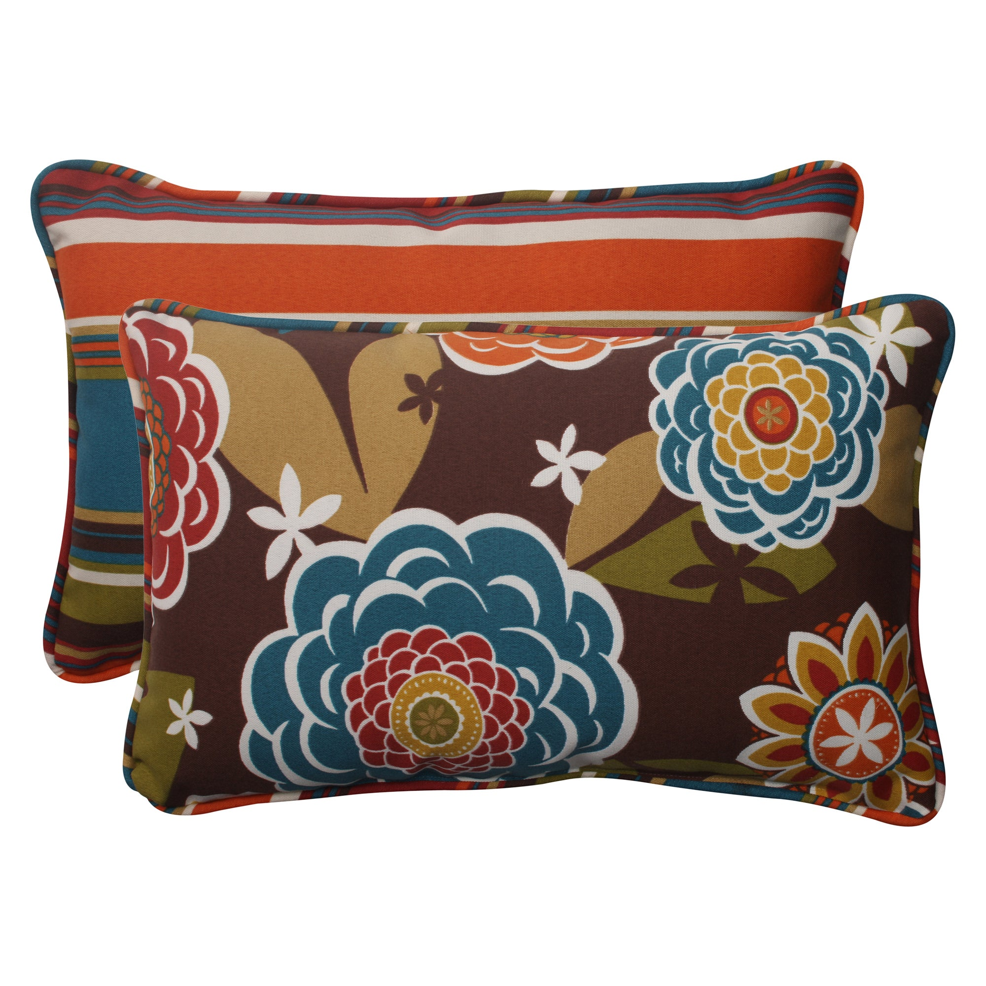 Shop Pillow Perfect Outdoor Throw Pillows Set Of 2 Free Shipping