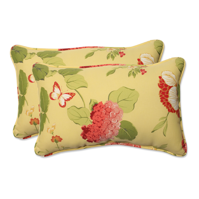 Shop Pillow Perfect Risa Lemonade Weather Resistant Corded Indoor