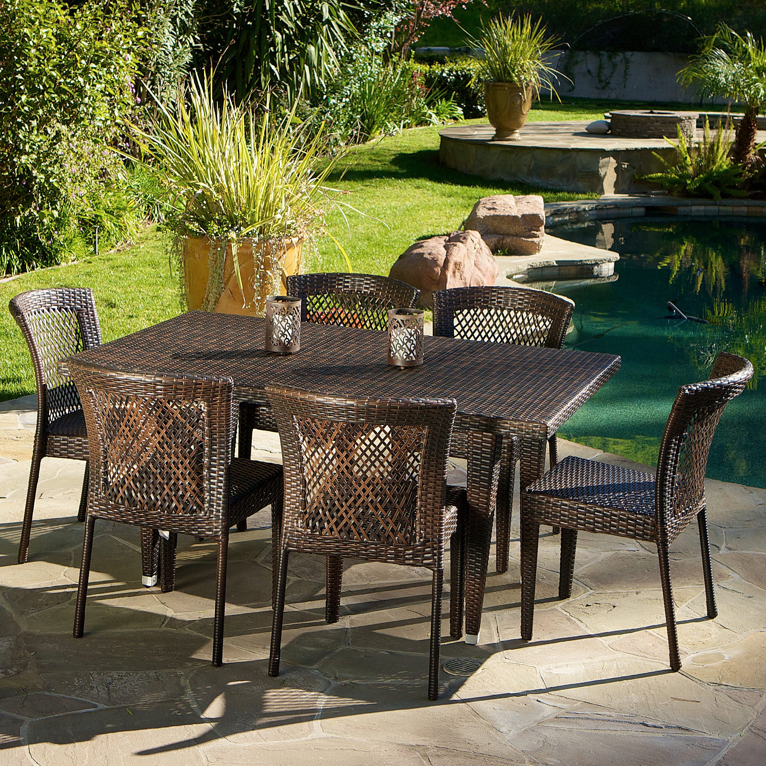 Dusk 7 piece Outdoor Dining Set by Christopher Knight Home Free