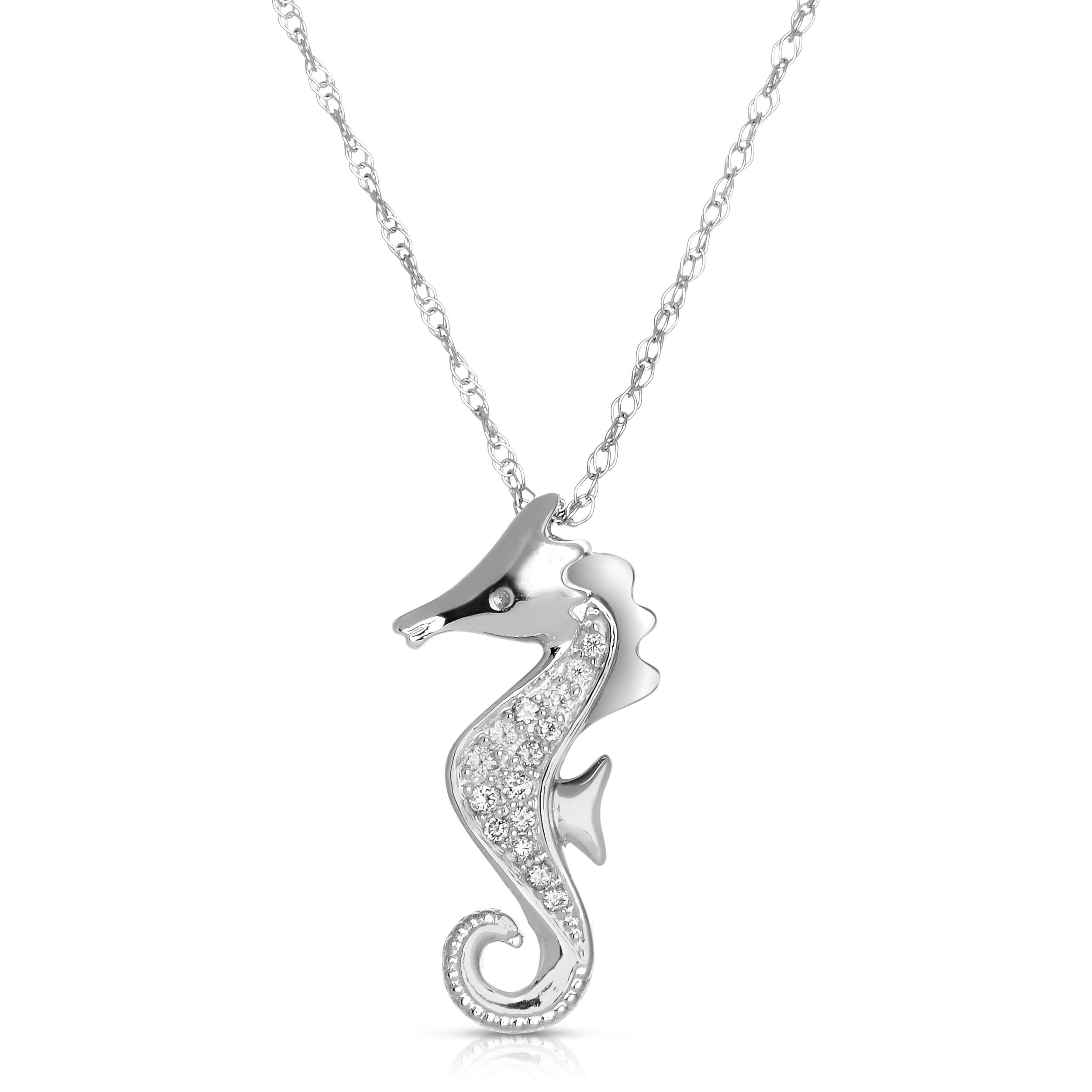 necklace silver jewelry cosanuova turquoise seahorse necklaces