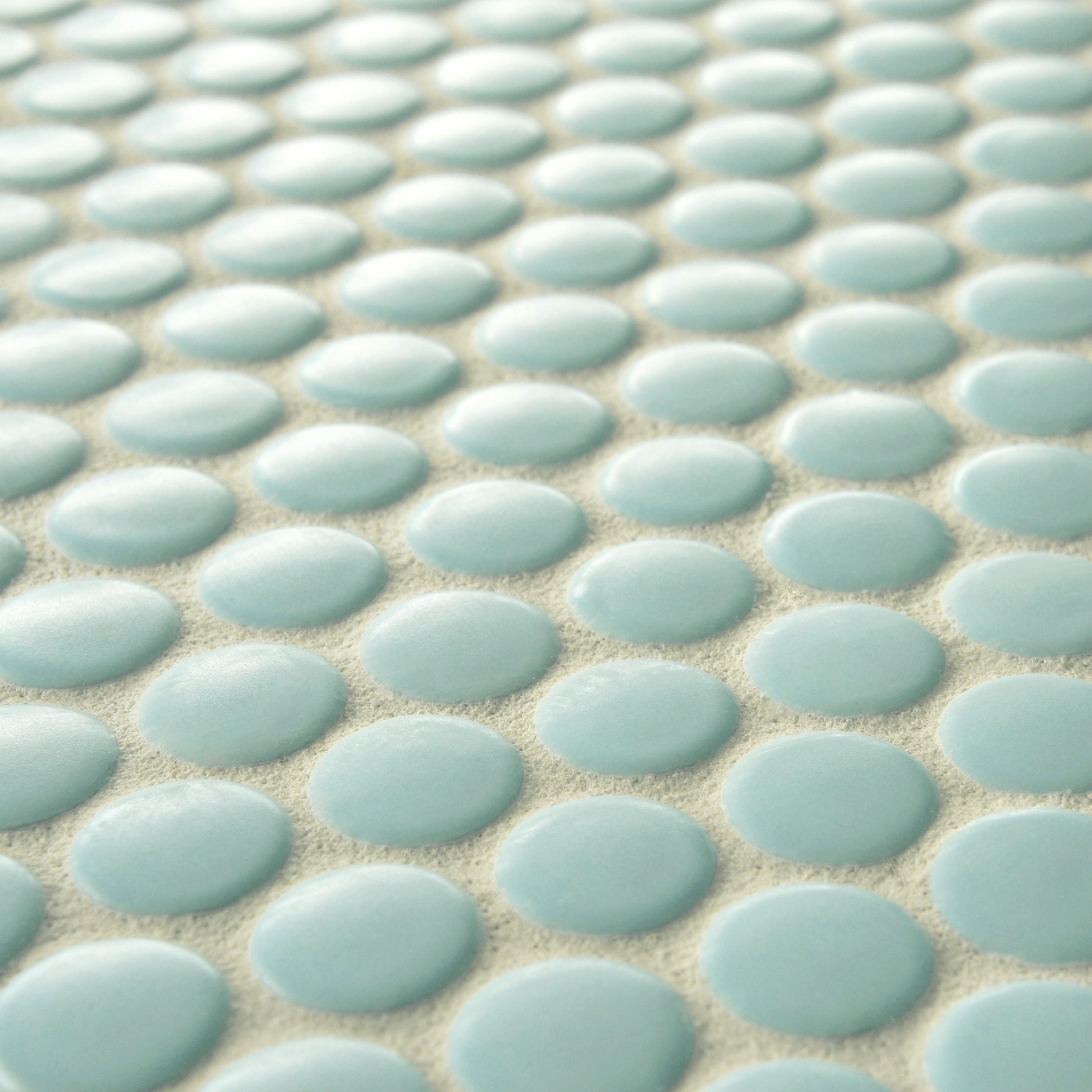 SomerTile 9.75x11.5-inch Victorian Penny Matte Light Blue Porcelain Mosaic  Floor and Wall Tile (Pack - Free Shipping Today - Overstock.com - 15232020