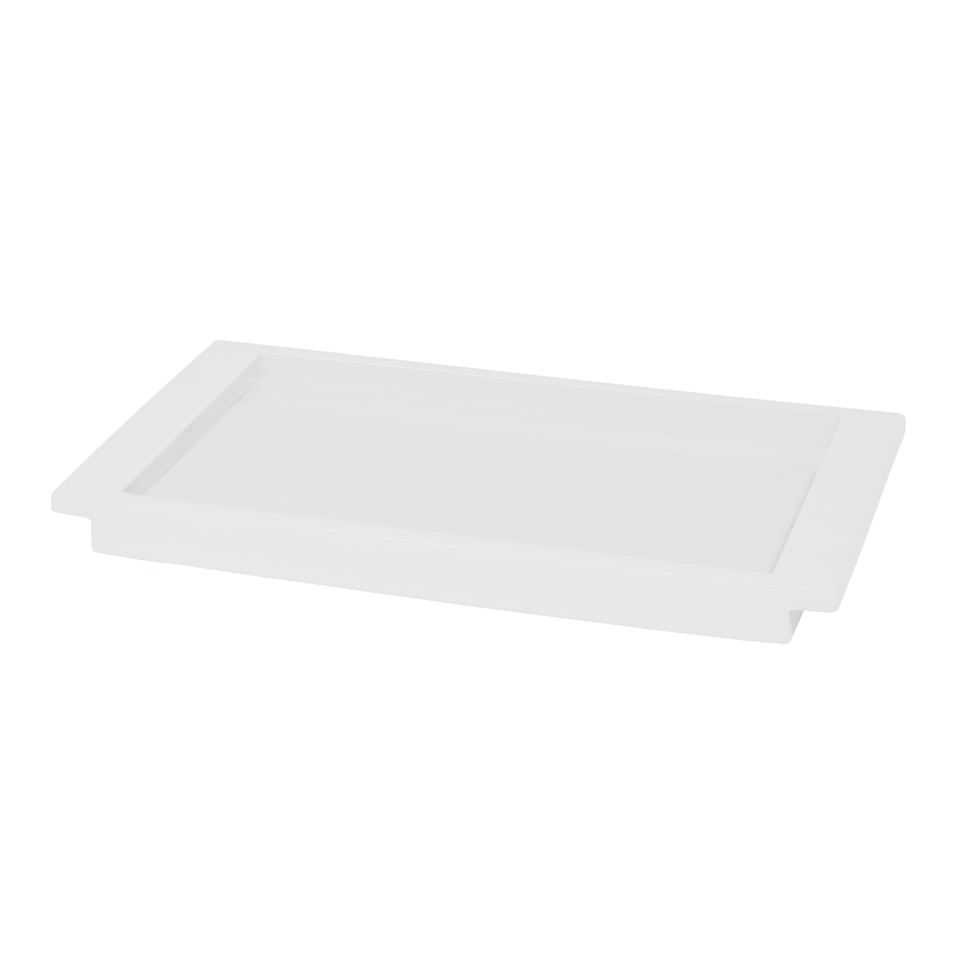 Shop Solid Lacquer White Bath Accessory Collection - Free Shipping ...