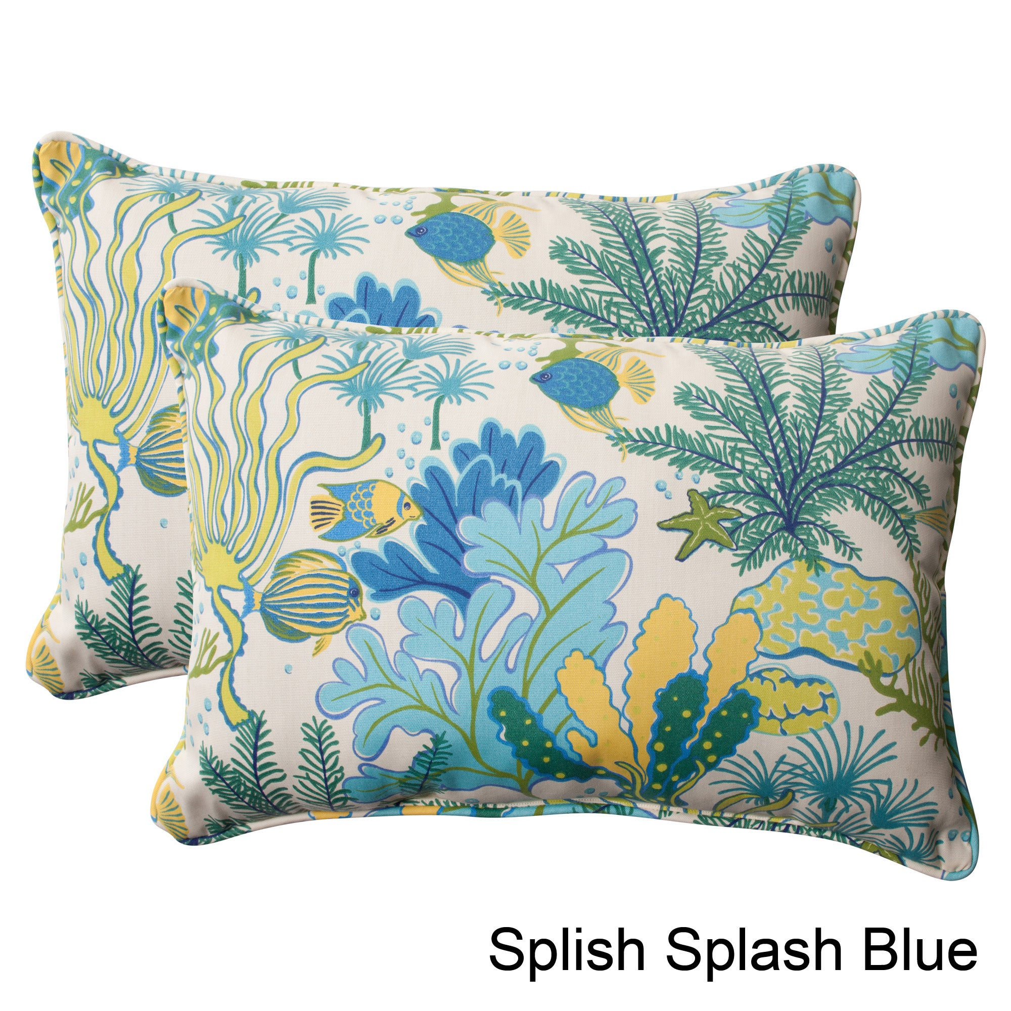Shop pillow perfect splish splash outdoor oversized throw pillows set of 2 free shipping today overstock com 7847497