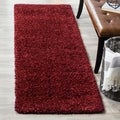Safavieh California Cozy Plush Maroon Shag Rug (2'3 x 7')