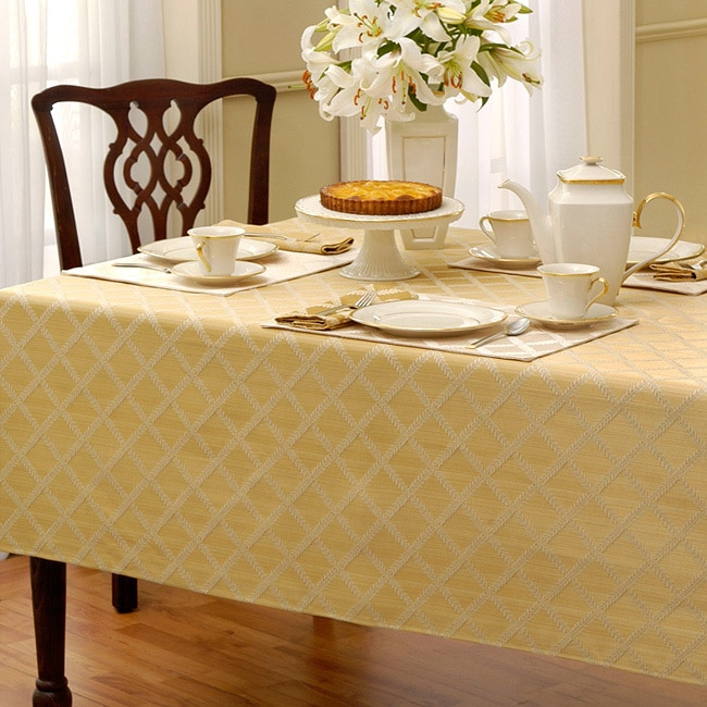 cb74a8d53f9 Shop Lenox Laurel Leaf Lattice Cotton Blend Tablecloth - Free Shipping On  Orders Over  45 - Overstock - 7847787