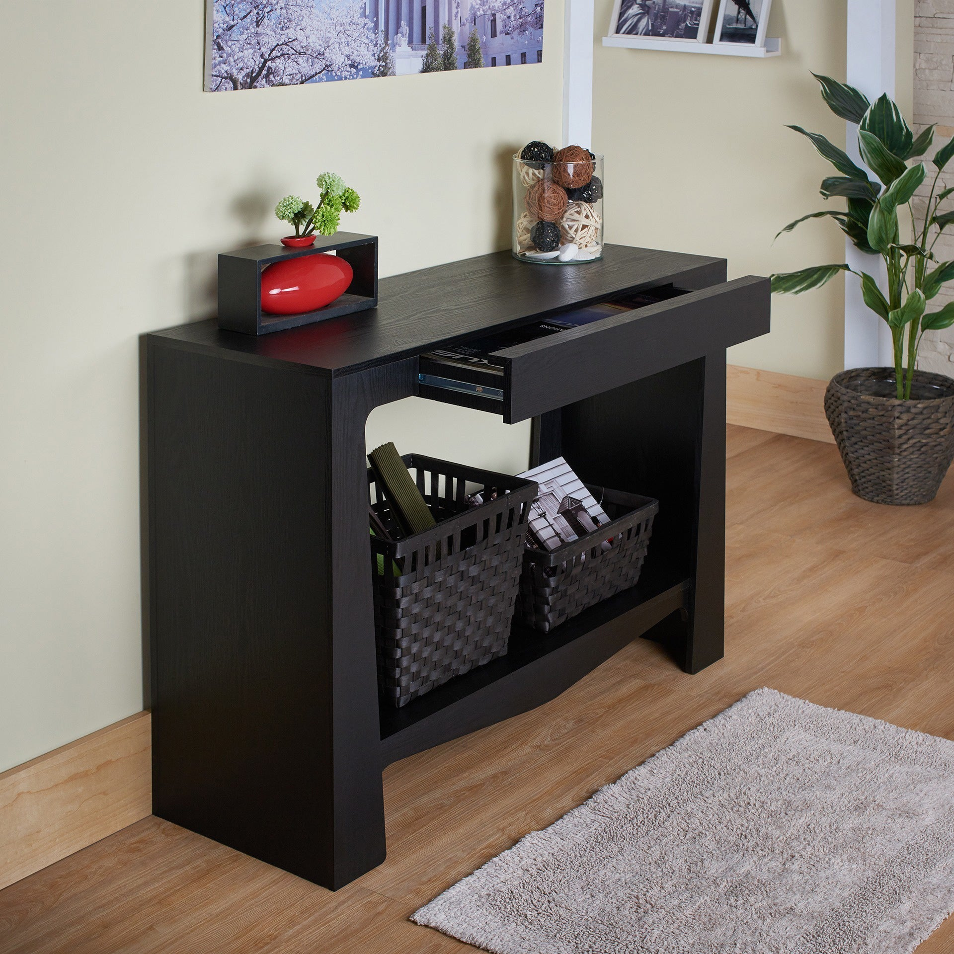 Shop Furniture Of America Urbana Modern Hall/ Entry Way Black Console Table    On Sale   Free Shipping Today   Overstock.com   7847822