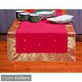 Handmade 14-Inch x 70-Inch Sari Table Runner (India)