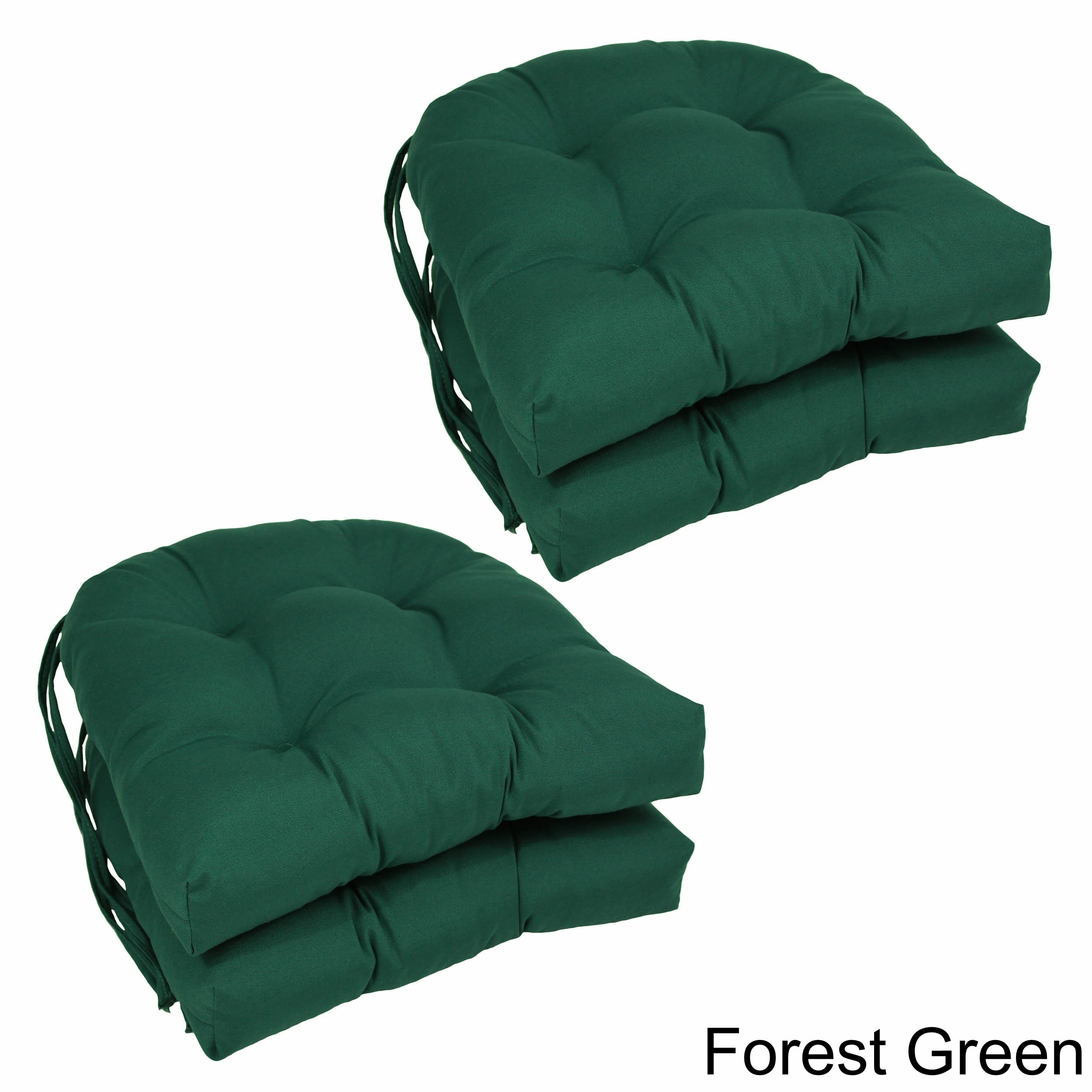 Shop Blazing Needles U Shaped Twill 16 Inch Dining Chair Cushions
