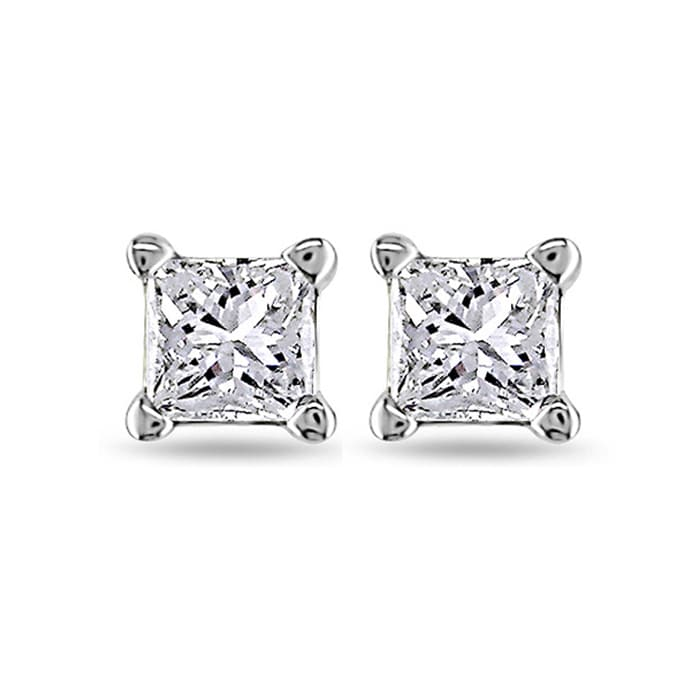 gifts p princess platinum apparel earrings diamond costco cut uk stud jewellery