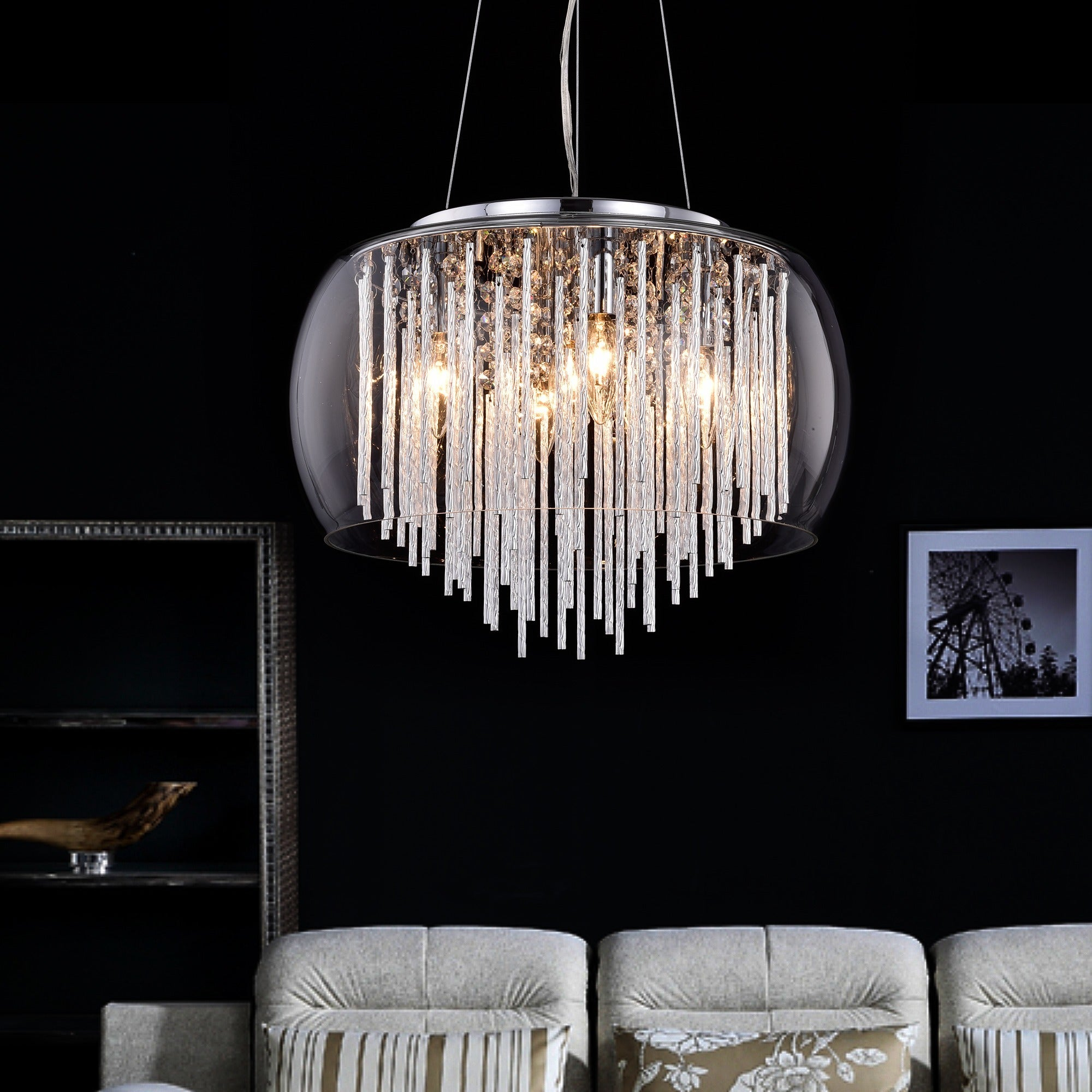 flush chandeliers home ceiling modern chandelier lightinthebox light dp ca lights amazon fixture mount bulb lighting pendant crystal