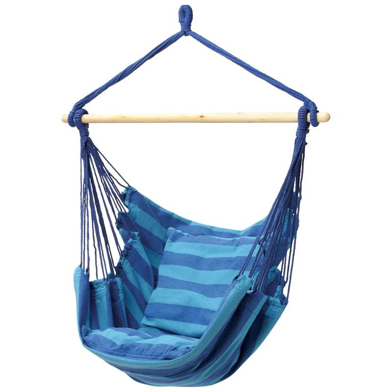 Shop Club Fun Blue Hanging Hammock Rope Chair   Free Shipping Today    Overstock.com   7857738