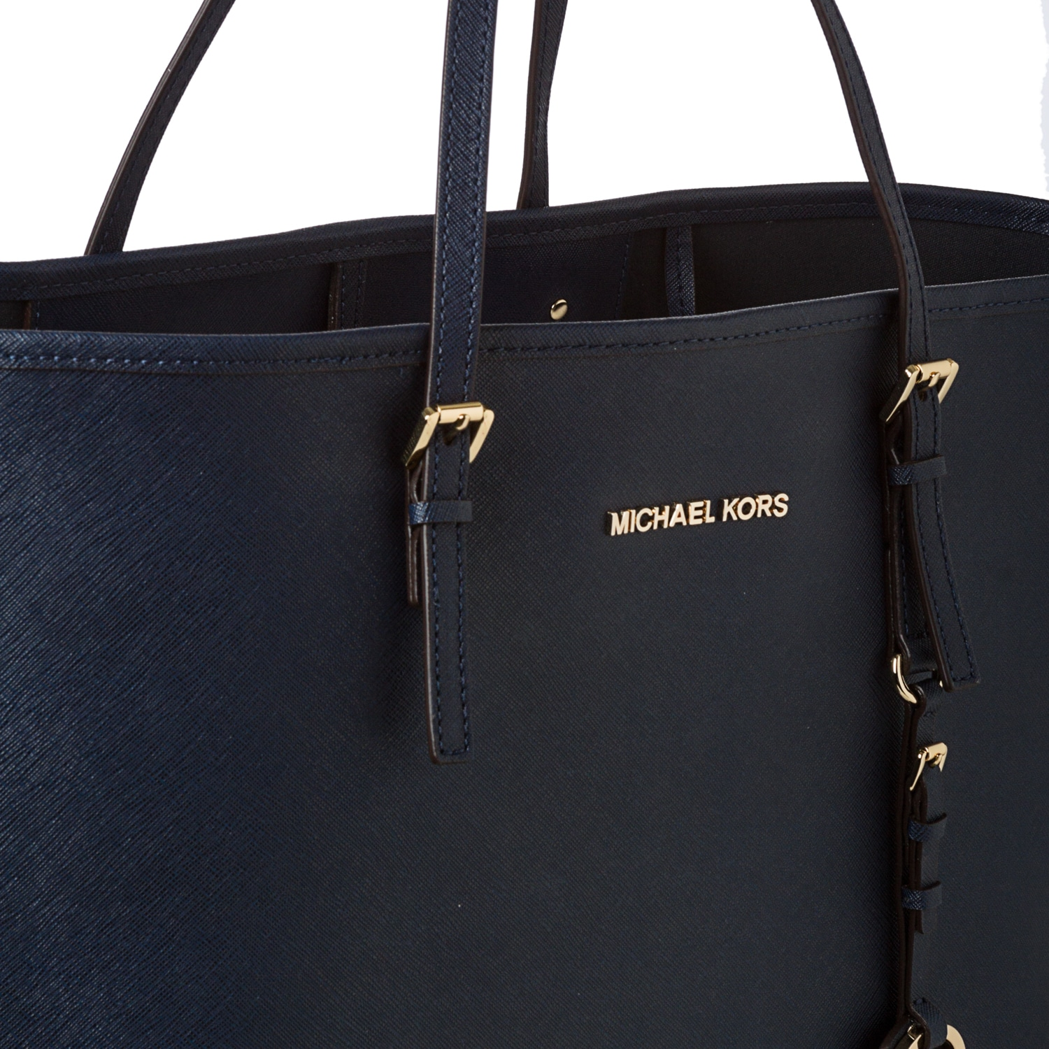 051b20676cd0 Shop MICHAEL Michael Kors 'Jet Set' Medium Navy Saffiano Leather Travel Tote  - Free Shipping Today - Overstock - 7858110
