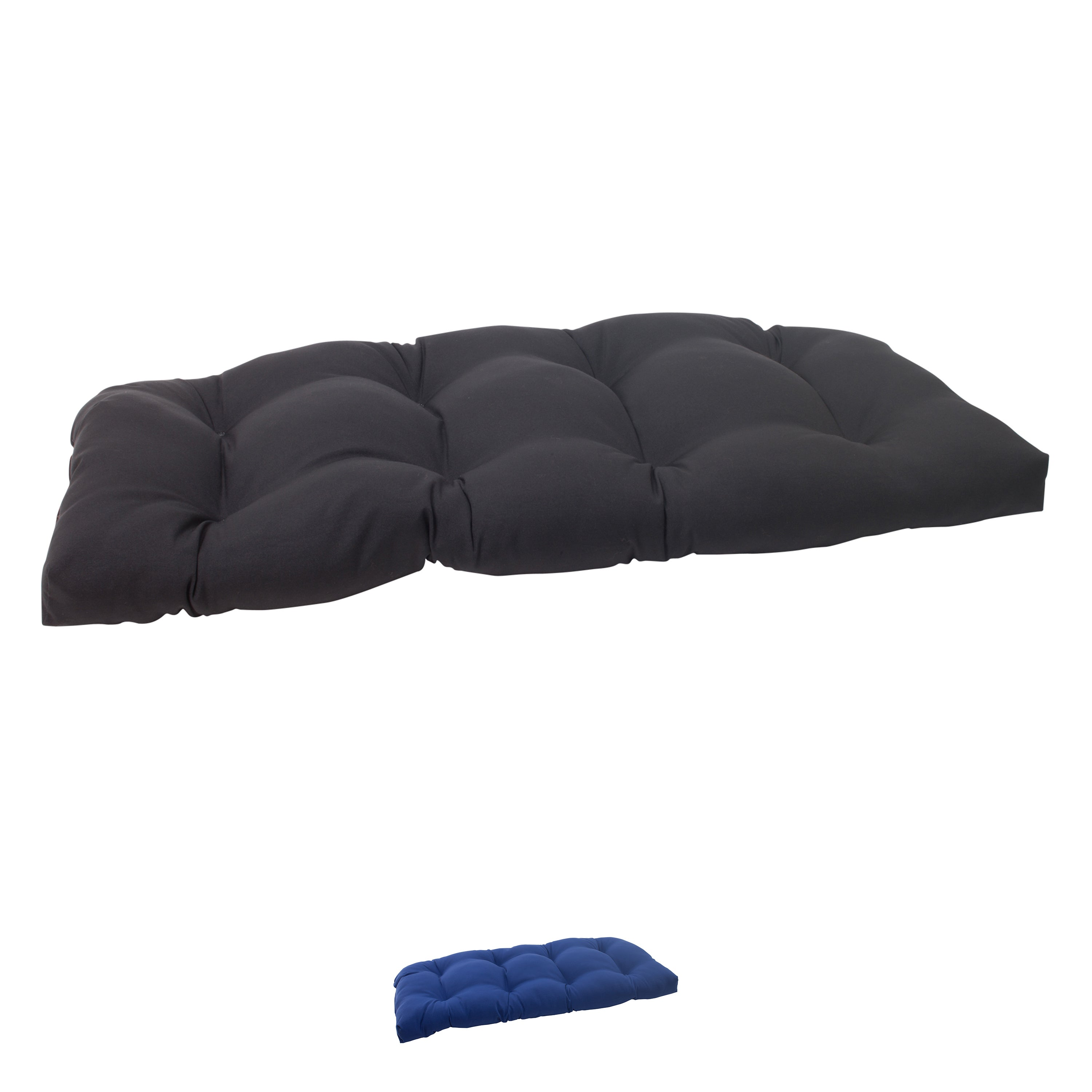 Pillow Perfect Outdoor Fresco Tufted Wicker Loveseat Cushion Free Shipping Today Com 7858145