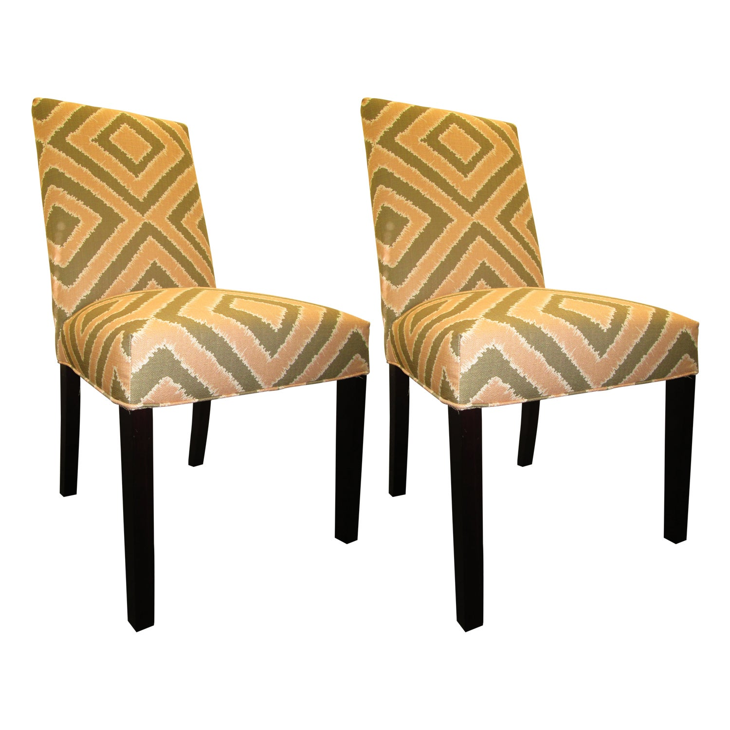 Charmant Nouveau Patterned Dining Chairs (Set Of 2)