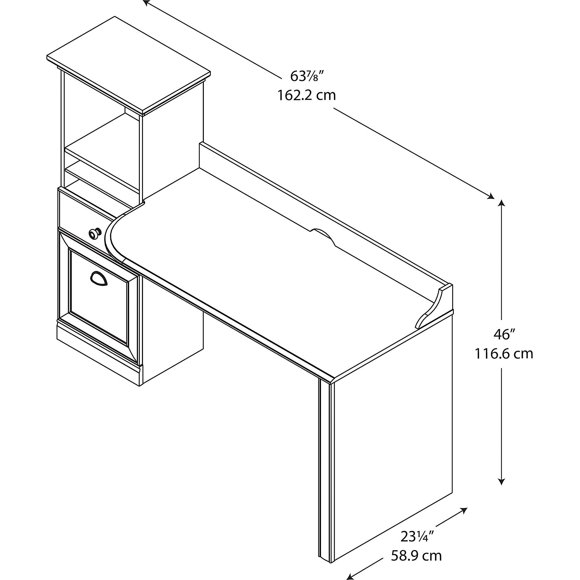 Shop Bush Furniture Barton Computer Workstation Desk In Bing Cherry Diagram Of Bridge Components Images Free Shipping Today 7866162