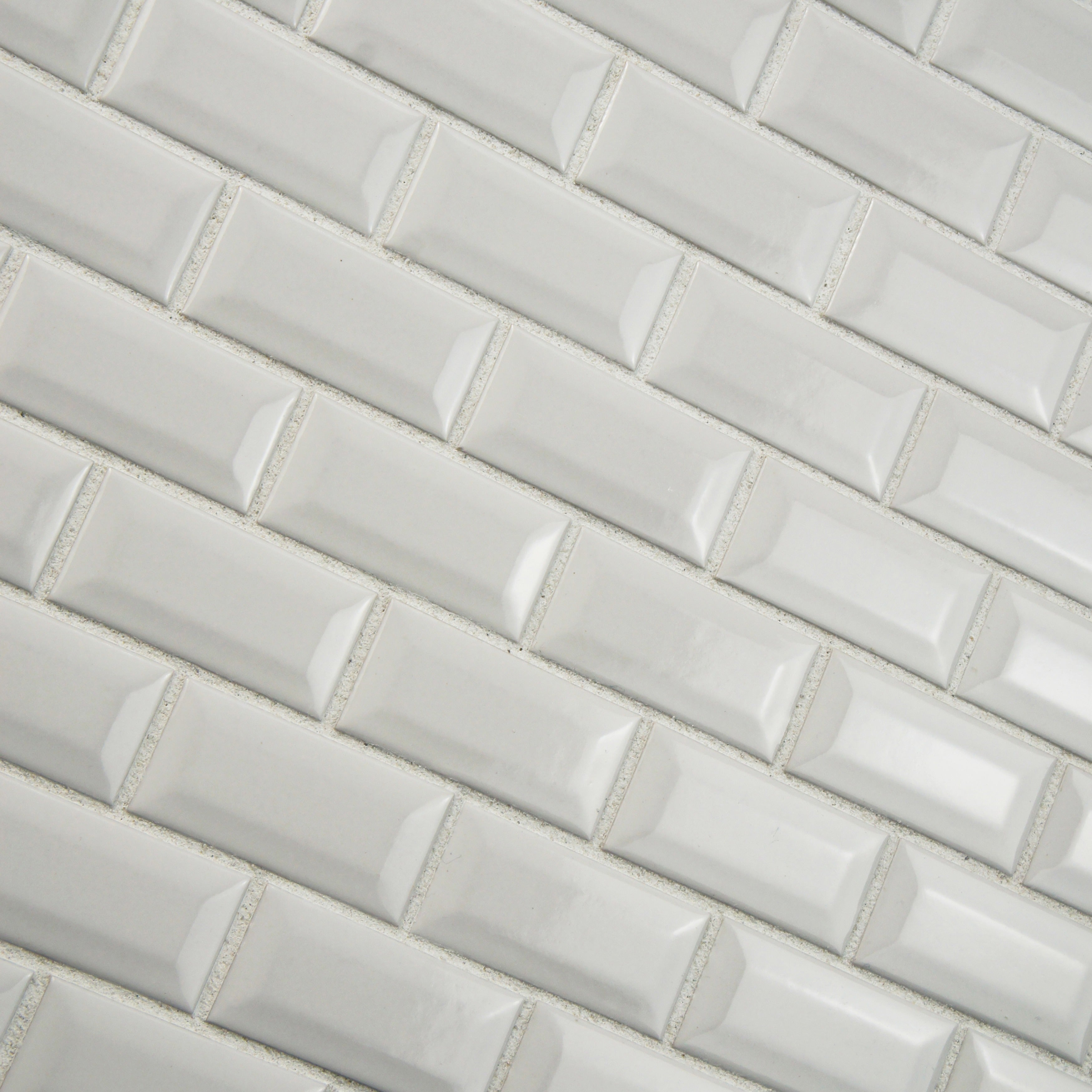 Somertile 12x12 inch victorian subway beveled glossy white somertile 12x12 inch victorian subway beveled glossy white porcelain mosaic floor and wall tile 10 tiles10 sqft free shipping today overstock dailygadgetfo Choice Image