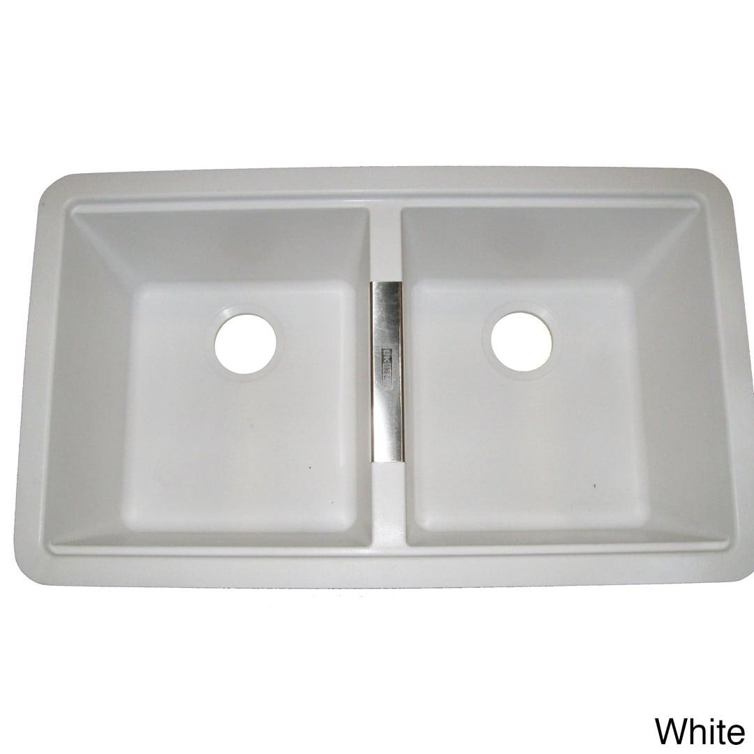 Shop Ukinox Granite 50/50 Double-bowl Undermount Sink - Free ... on stone forest sinks, elkay sinks, native trails sinks, kohler sinks, vigo sinks, kindred sinks, faber sinks, oceana sinks, houzer sinks, porcher sinks, ronbow sinks, decolav sinks, xylem sinks, moen sinks, rohl sinks,