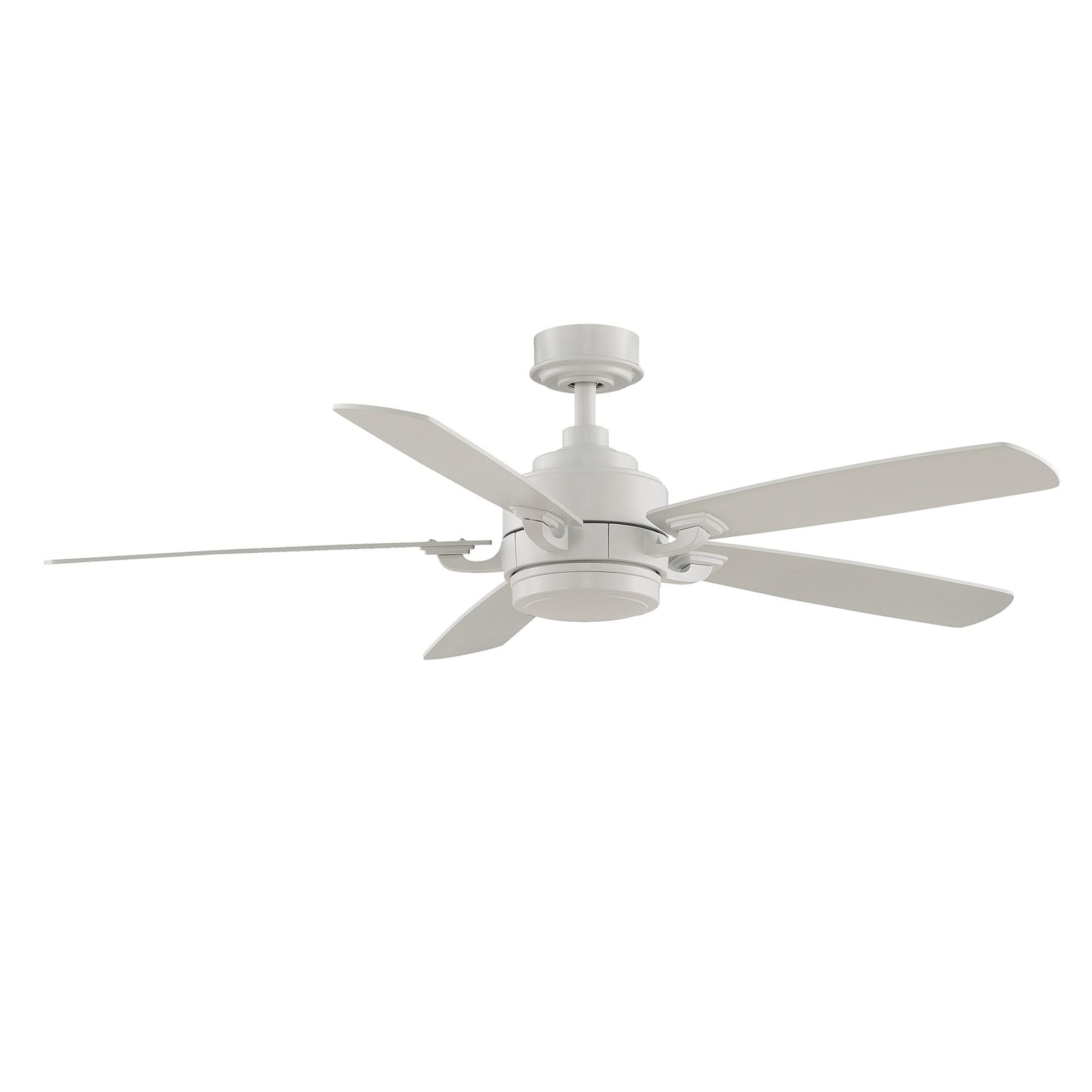 Fanimation Benito 52 inch Matte White 1 light Ceiling Fan Free