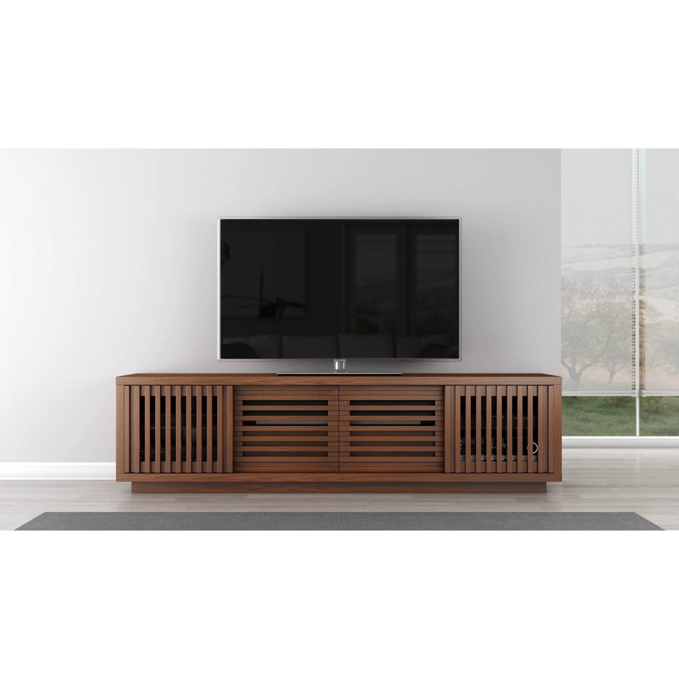 shipping media product stand overstock garden bench free tv console home today inch rustic