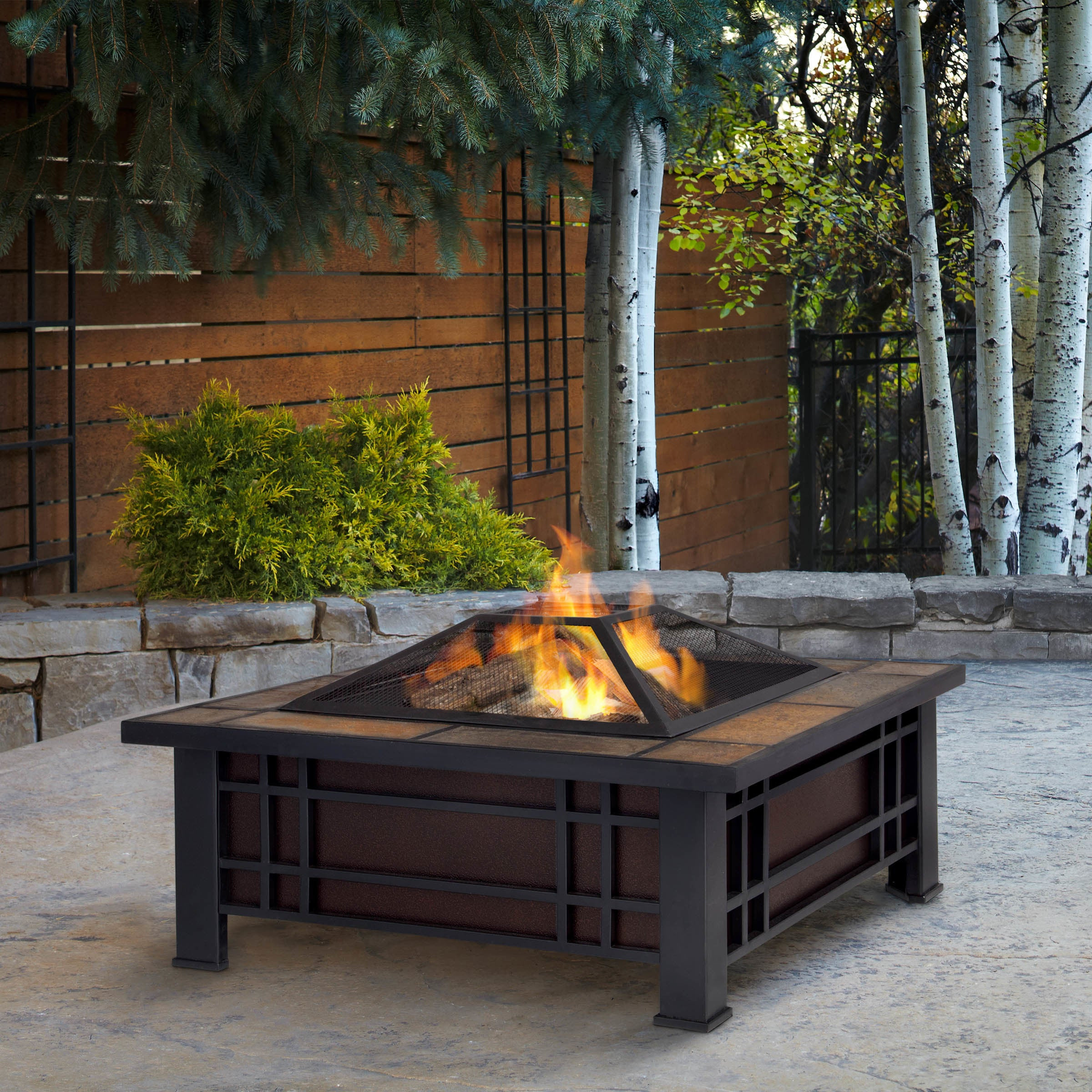 Real Flame Morrison Outdoor Fire Pit Free Shipping Today