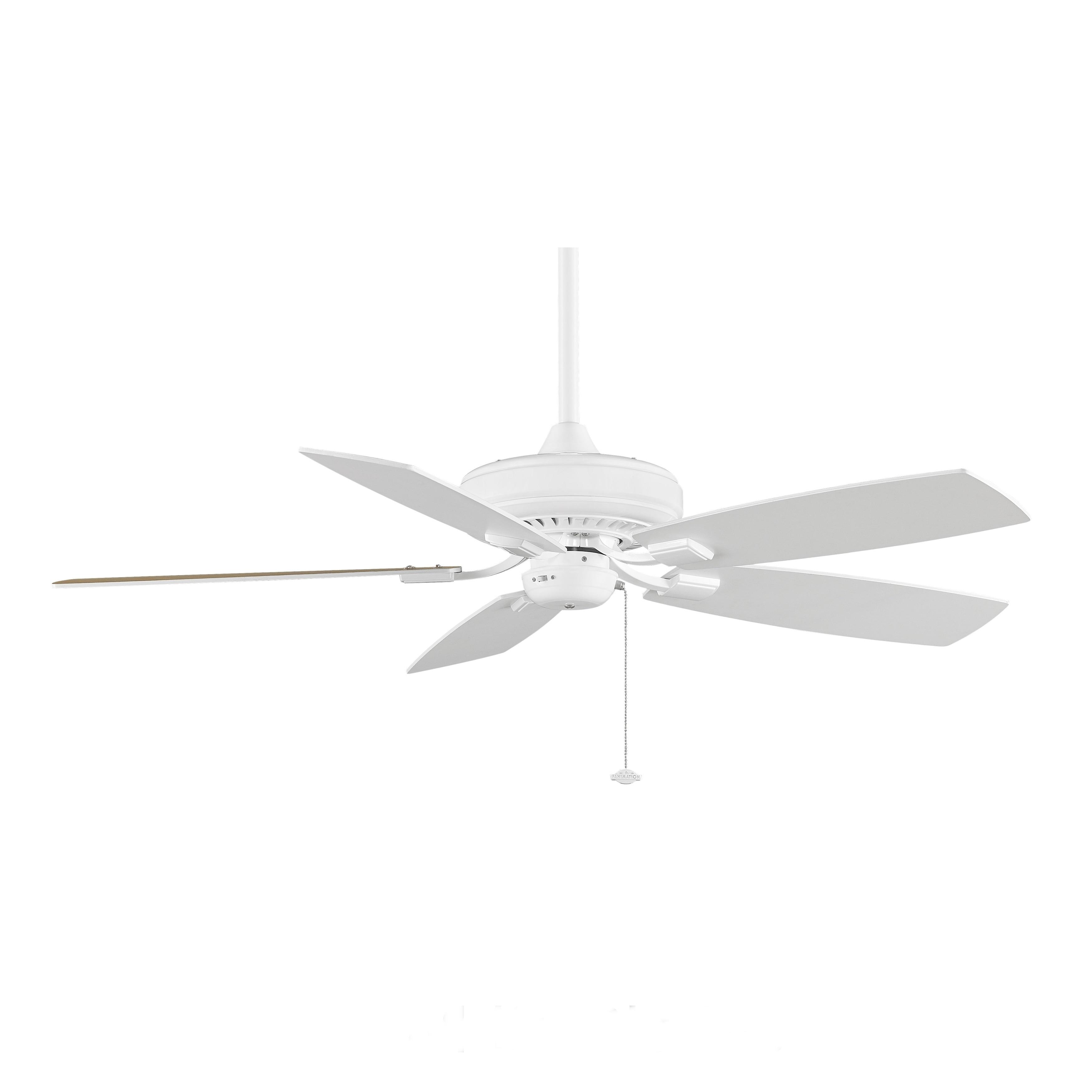 Fanimation Edgewood Decorative 52 inch White Ceiling Fan Free